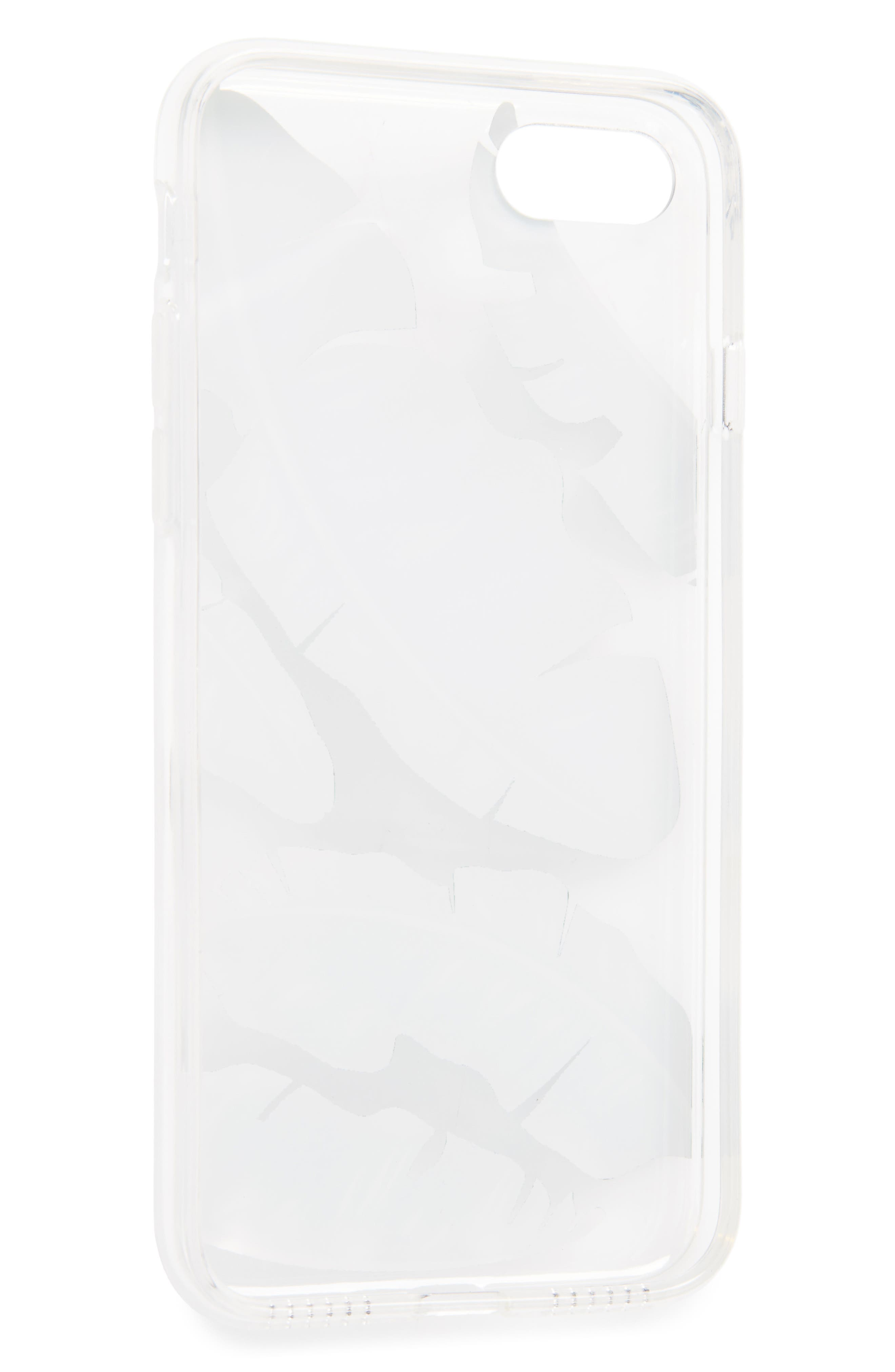 Banana Leaf iPhone 7 Case,                             Alternate thumbnail 2, color,                             Clear/ Green