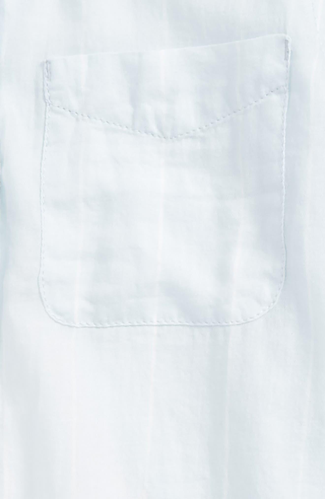 Cross Back Flyaway Woven Shirt,                             Alternate thumbnail 3, color,                             Blue Drift Chalk Stripe