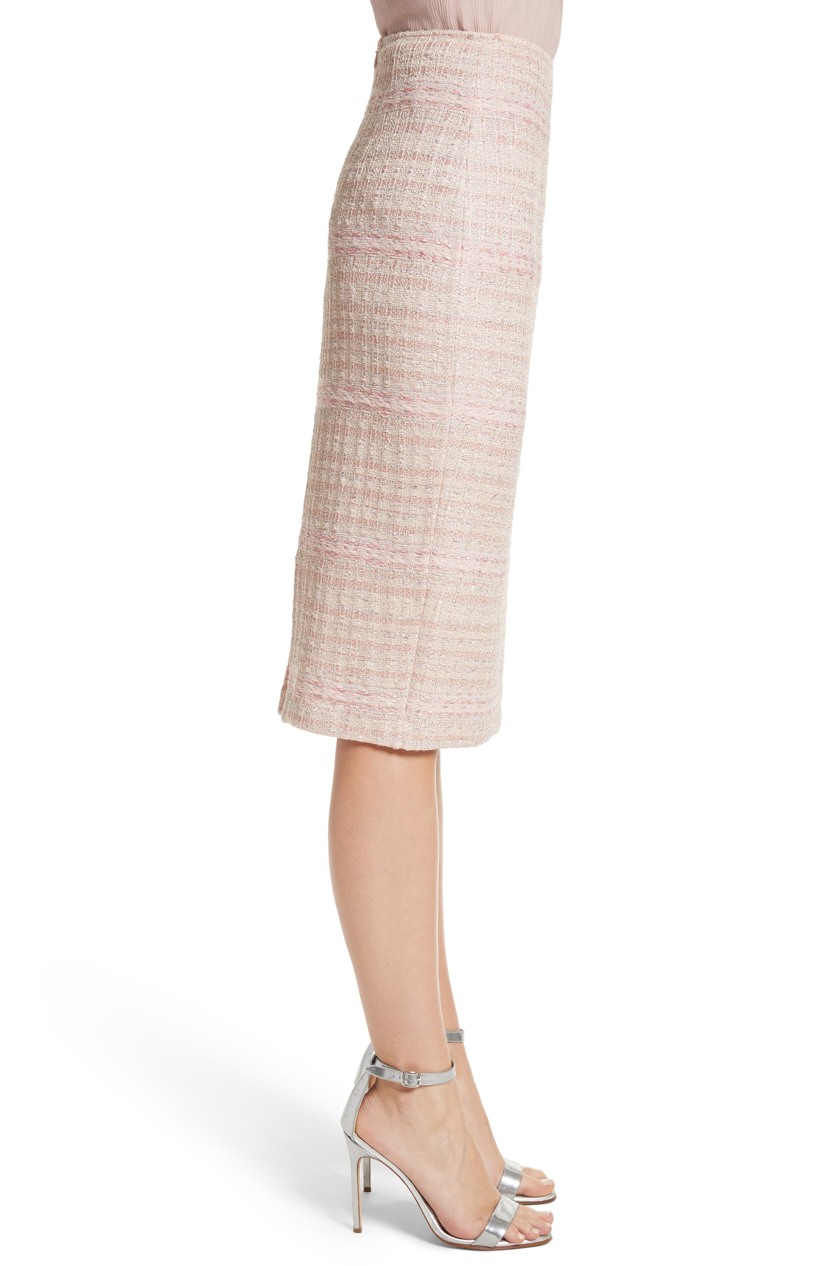Alternate Image 3  - St. John Collection Guilded Pastel Knit Skirt
