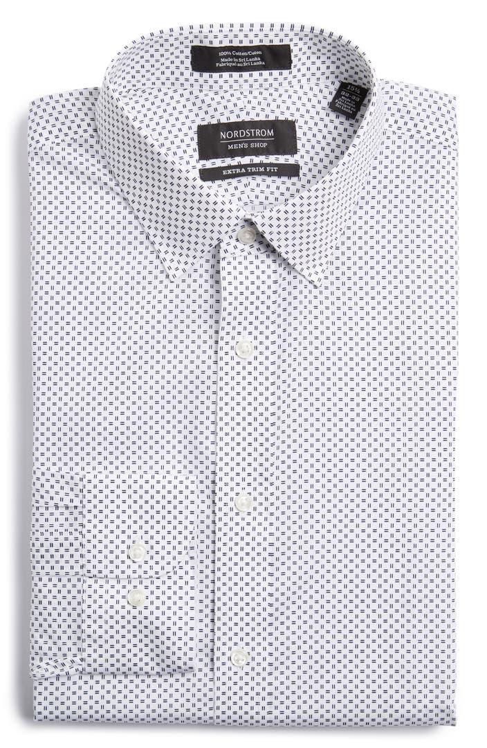 Nordstrom men 39 s shop extra trim fit dress shirt nordstrom for Extra trim fit dress shirt