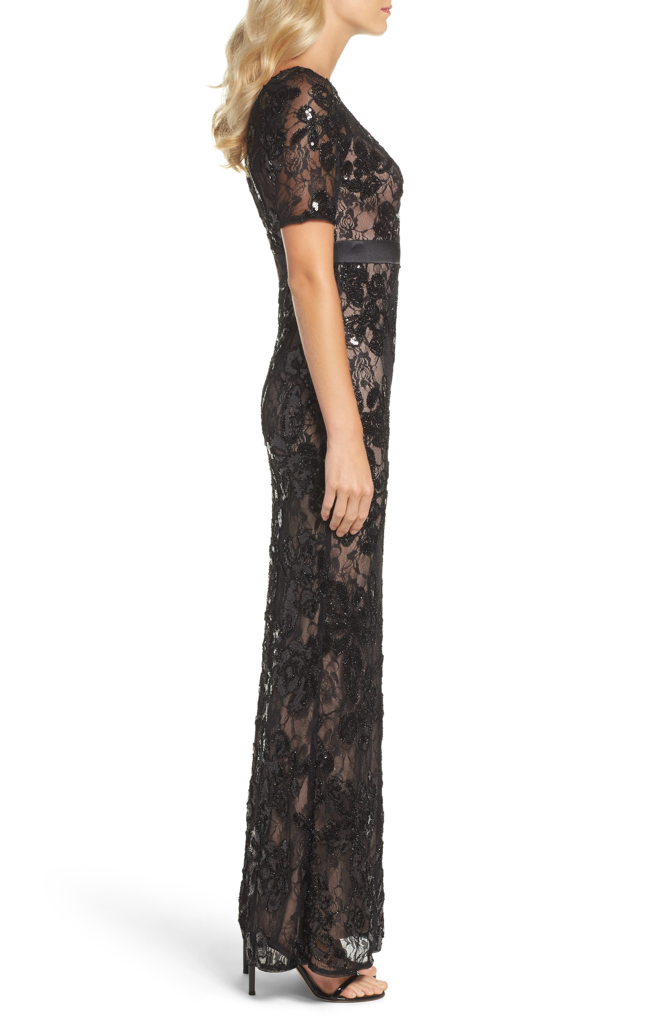 Alternate Image 3  - Adrianna Papell Sequin Lace Gown