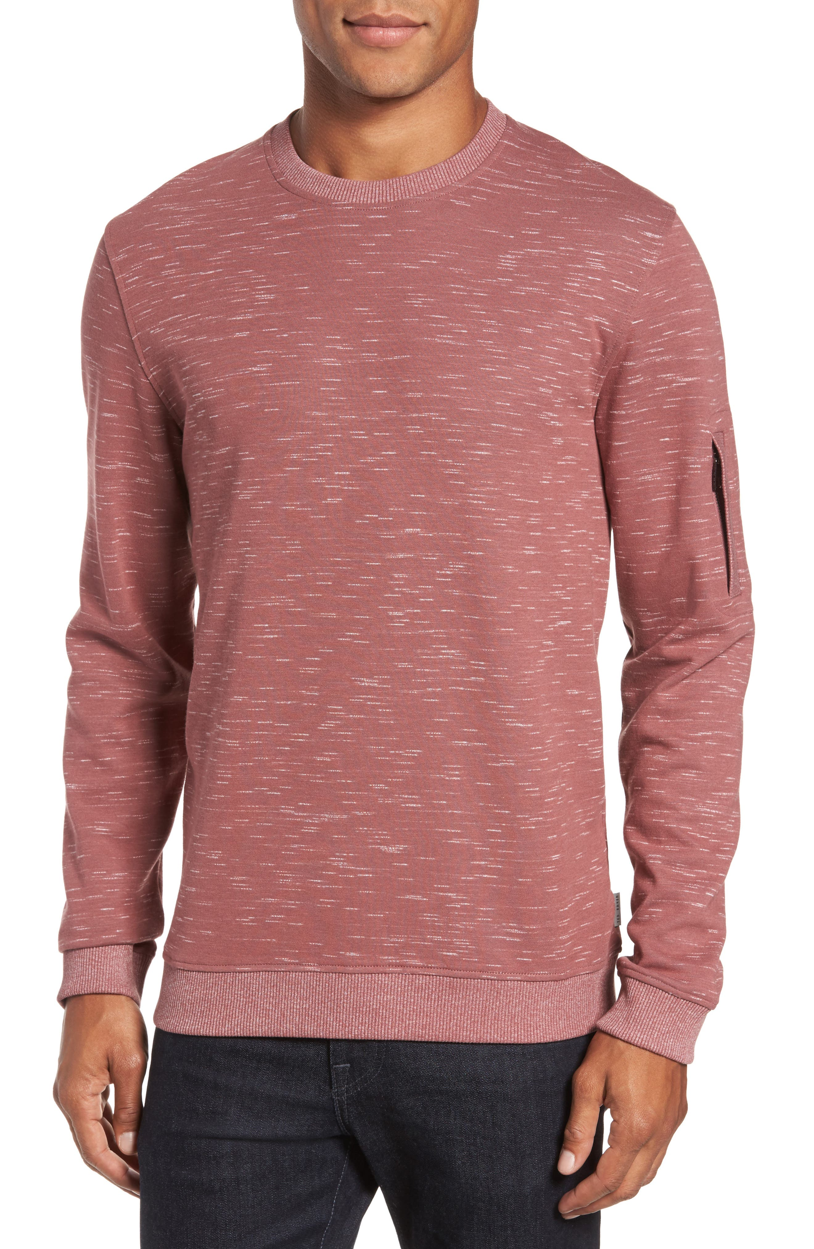 Bepay Jersey Sweatshirt,                         Main,                         color, Dusky Pink