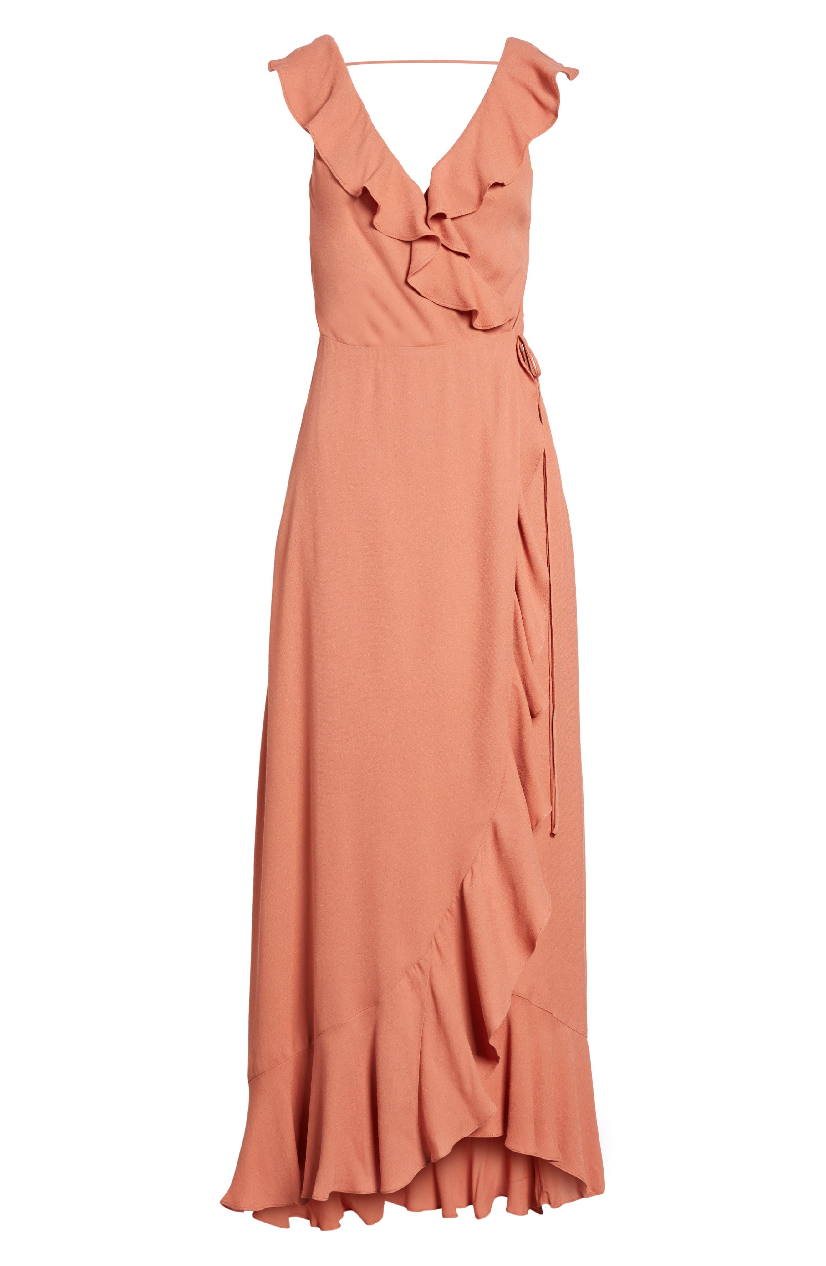 Alternate Image 6  - AFRM Wade Wrap Maxi Dress