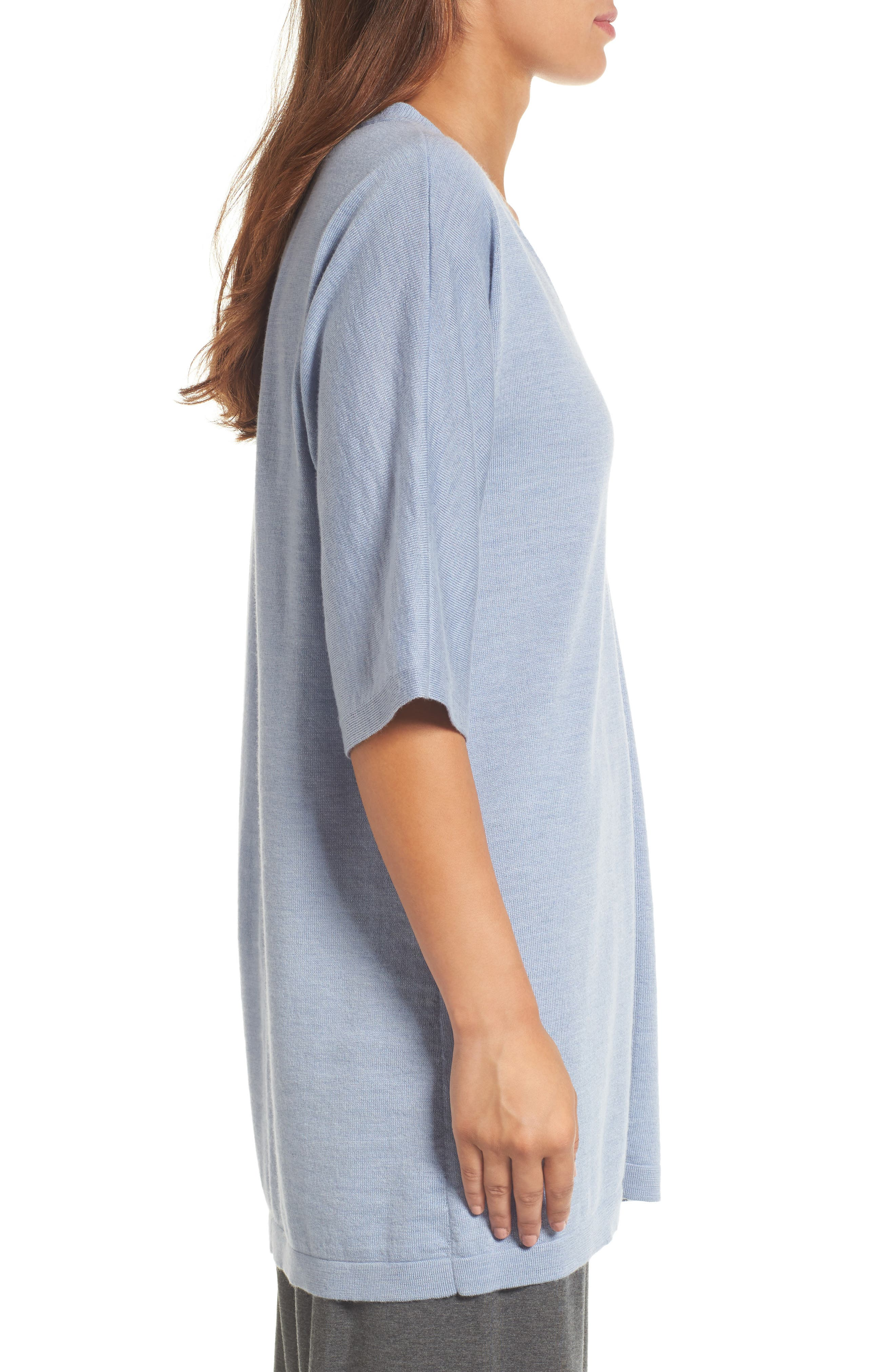 Alternate Image 3  - Eileen Fisher Merino Wool Tunic Sweater