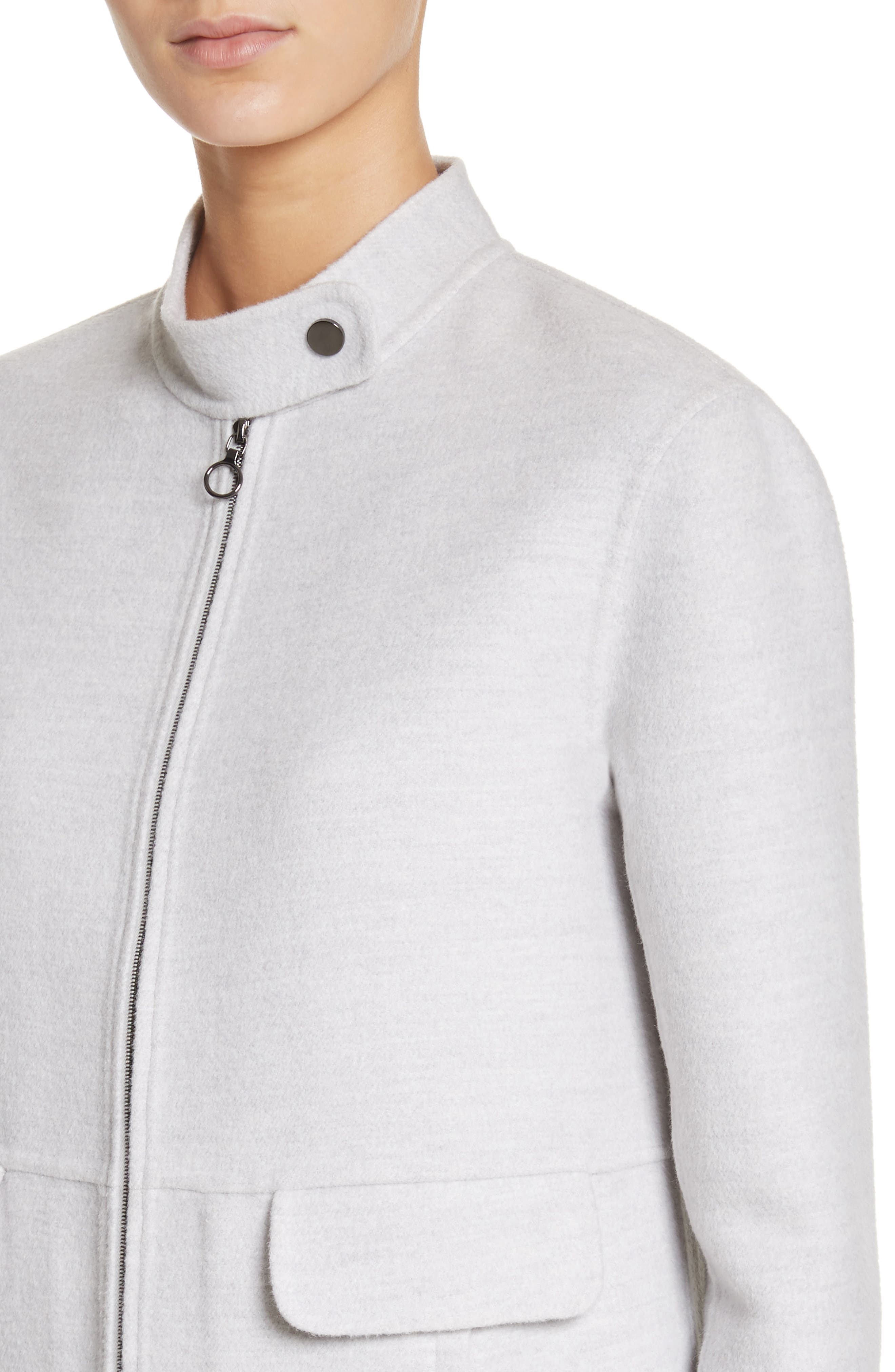 Alternate Image 4  - St. John Collection Nehru Collar Double Face Jacket