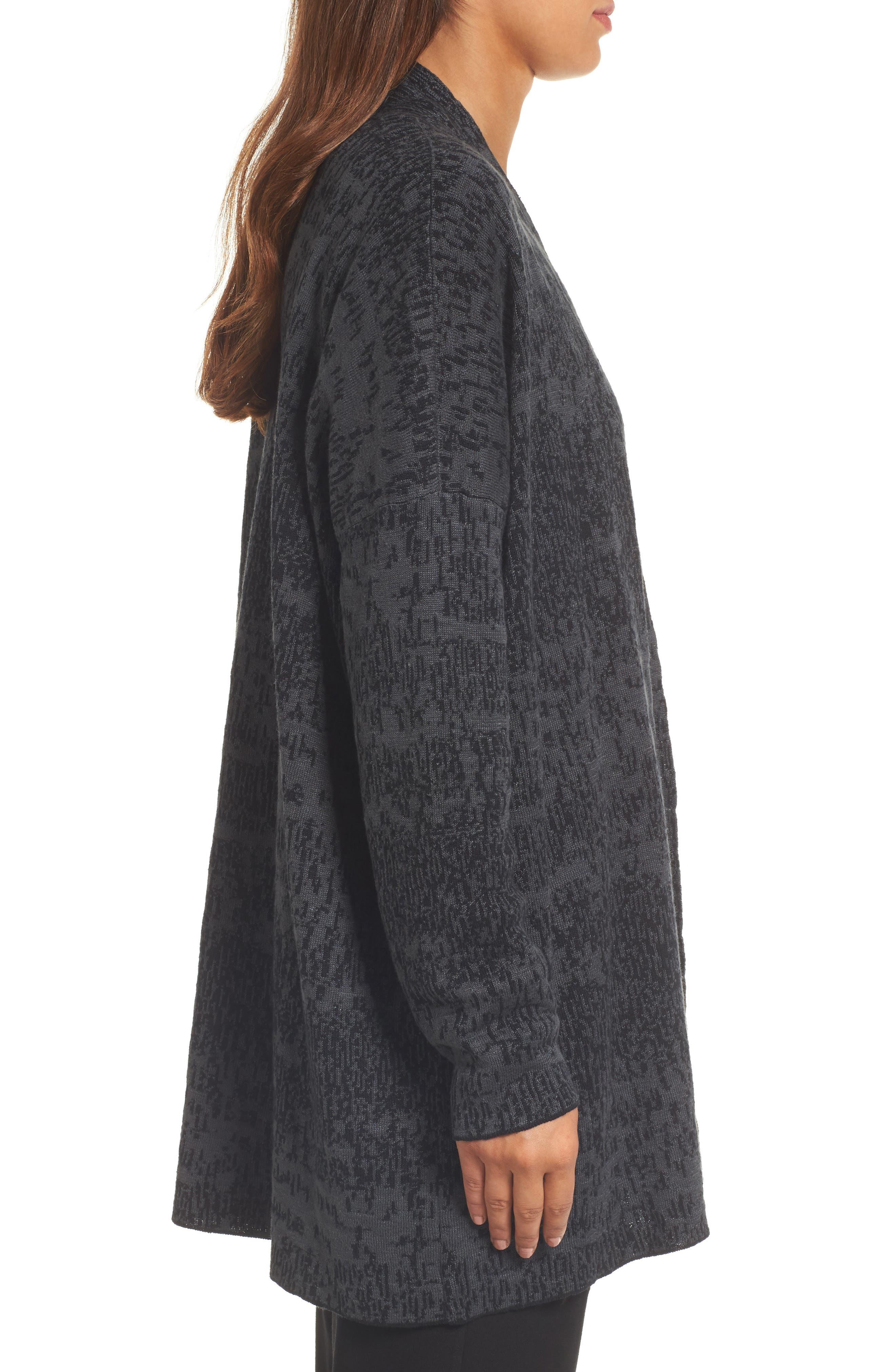 Alternate Image 3  - Eileen Fisher Organic Linen & Cotton Cardigan