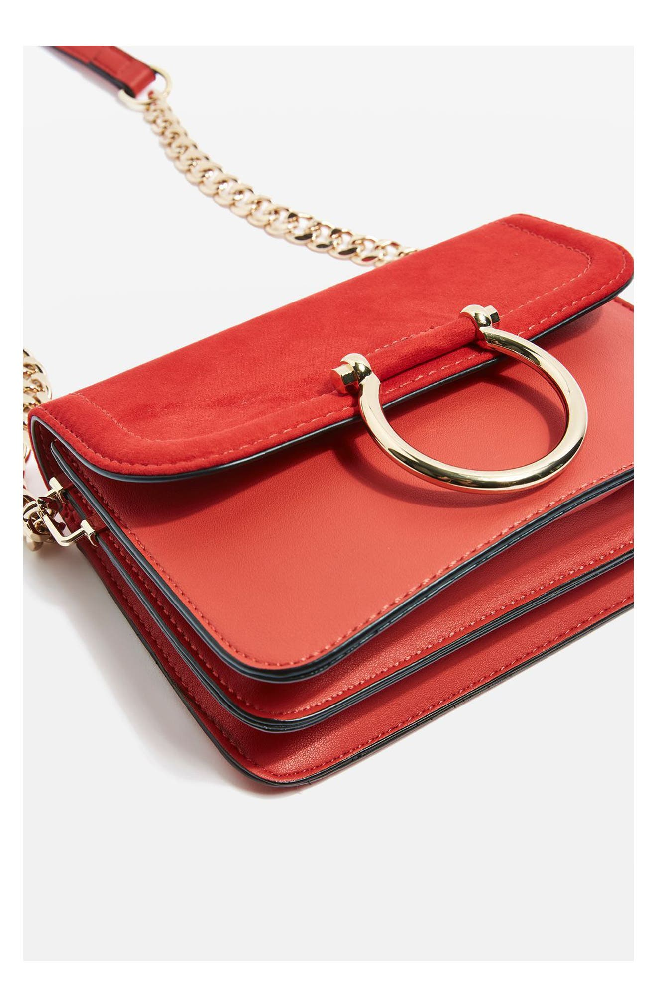 Alternate Image 3  - Topshop Remy Trophy Faux Leather Crossbody Bag