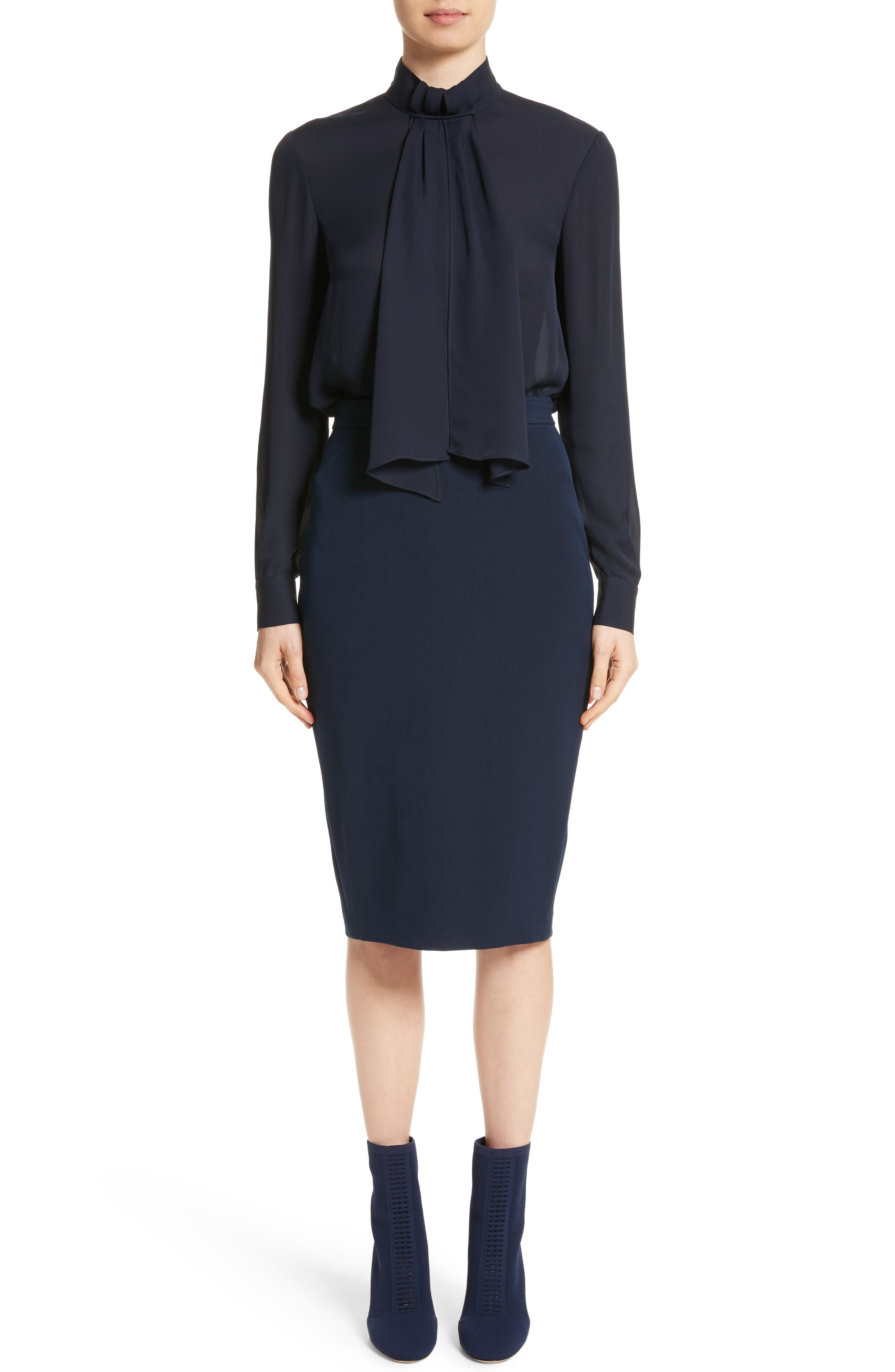 Alternate Image 9  - St. John Collection Bella Double Weave Pencil Skirt