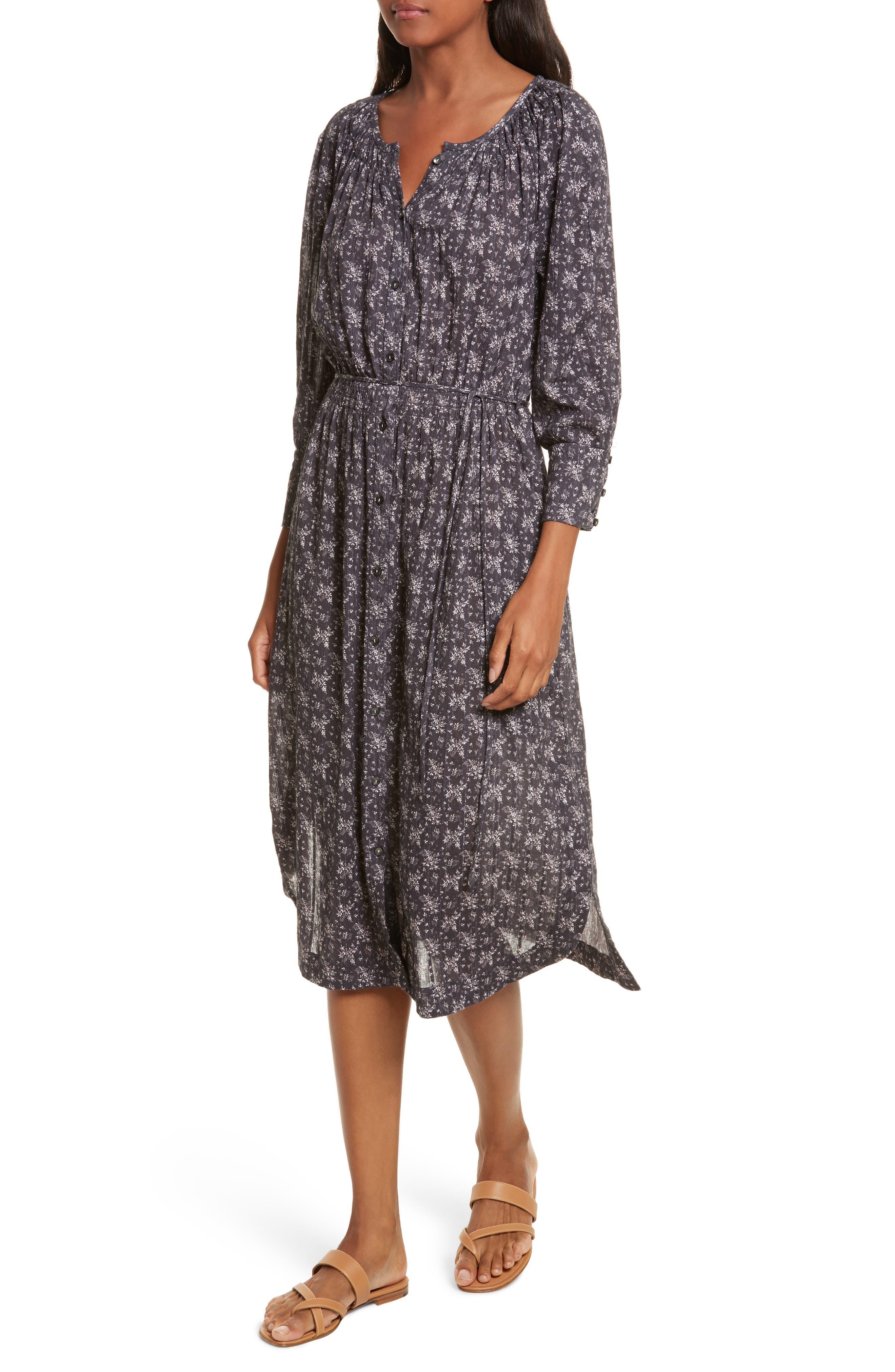 Angelique Long Sleeve Dress,                             Alternate thumbnail 4, color,                             Black Combo