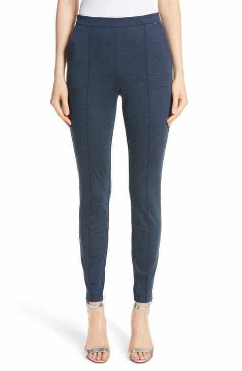 St. John Collection Mélange Stretch Ponte Crop Pants by ST. JOHN COLLECTION