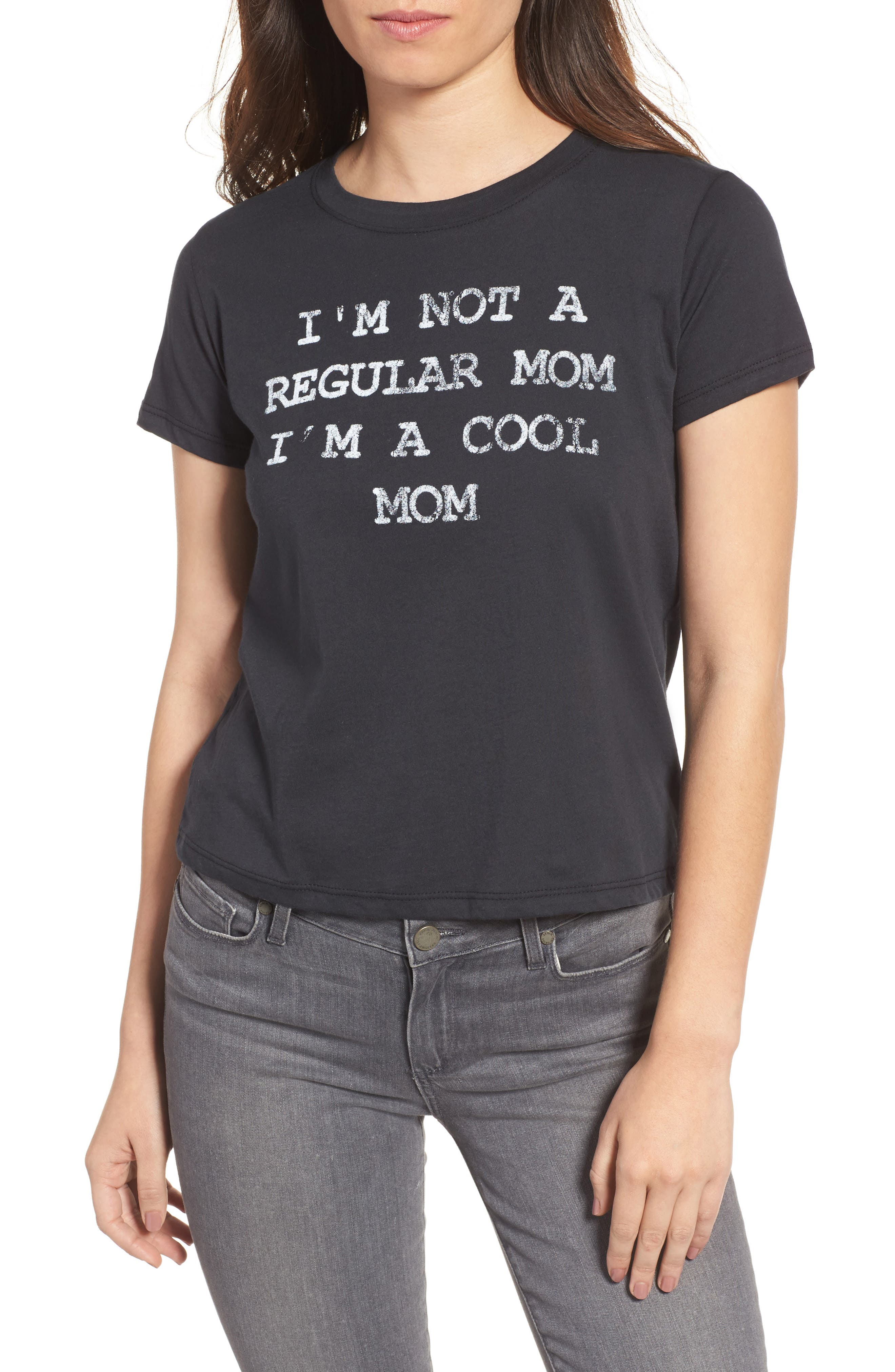 x Mean Girls I'm A Cool Mom Tee,                         Main,                         color, Black
