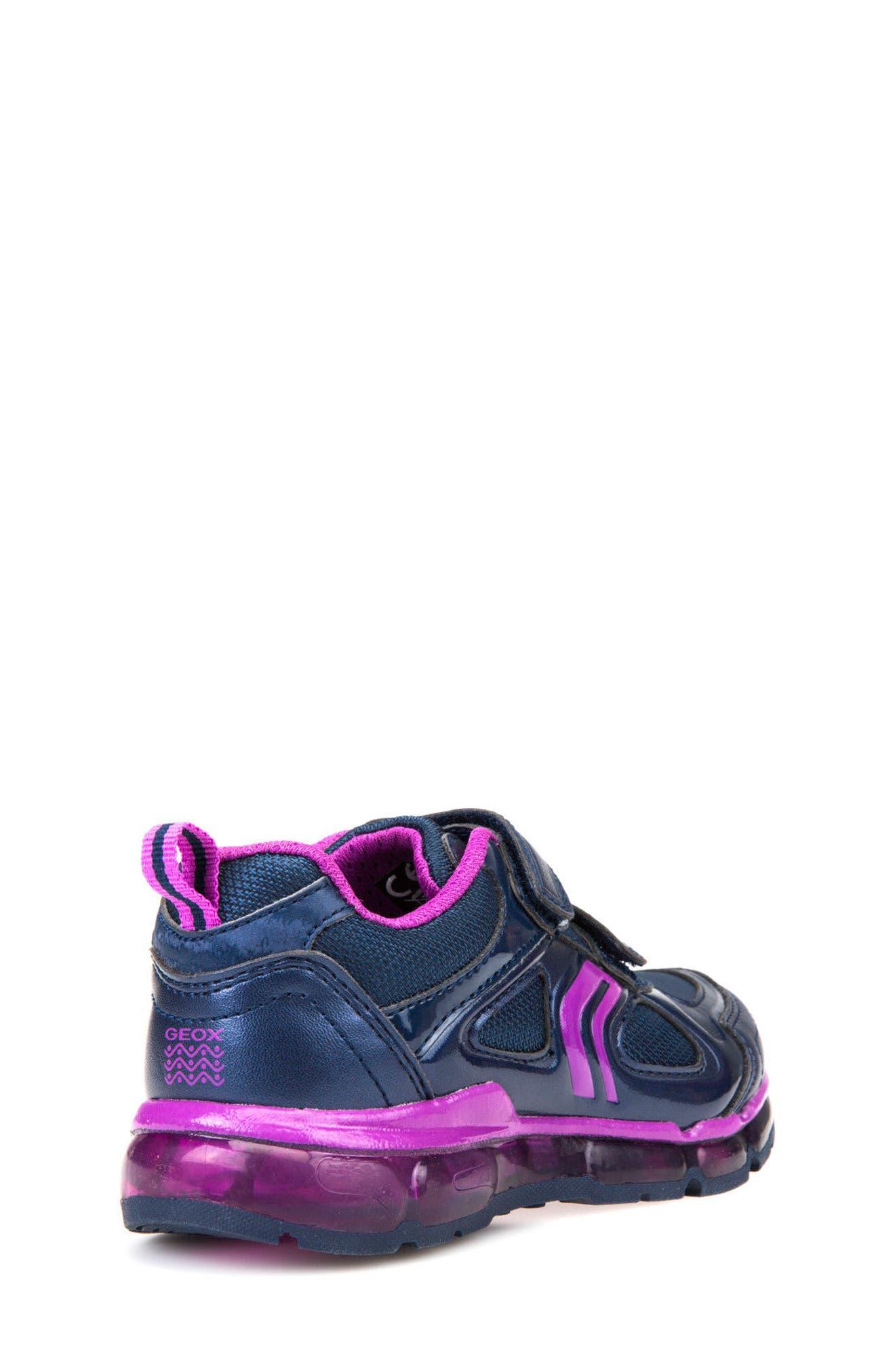 'Jr Android 2' Light-Up Sneaker,                             Alternate thumbnail 6, color,                             Navy/ Purple