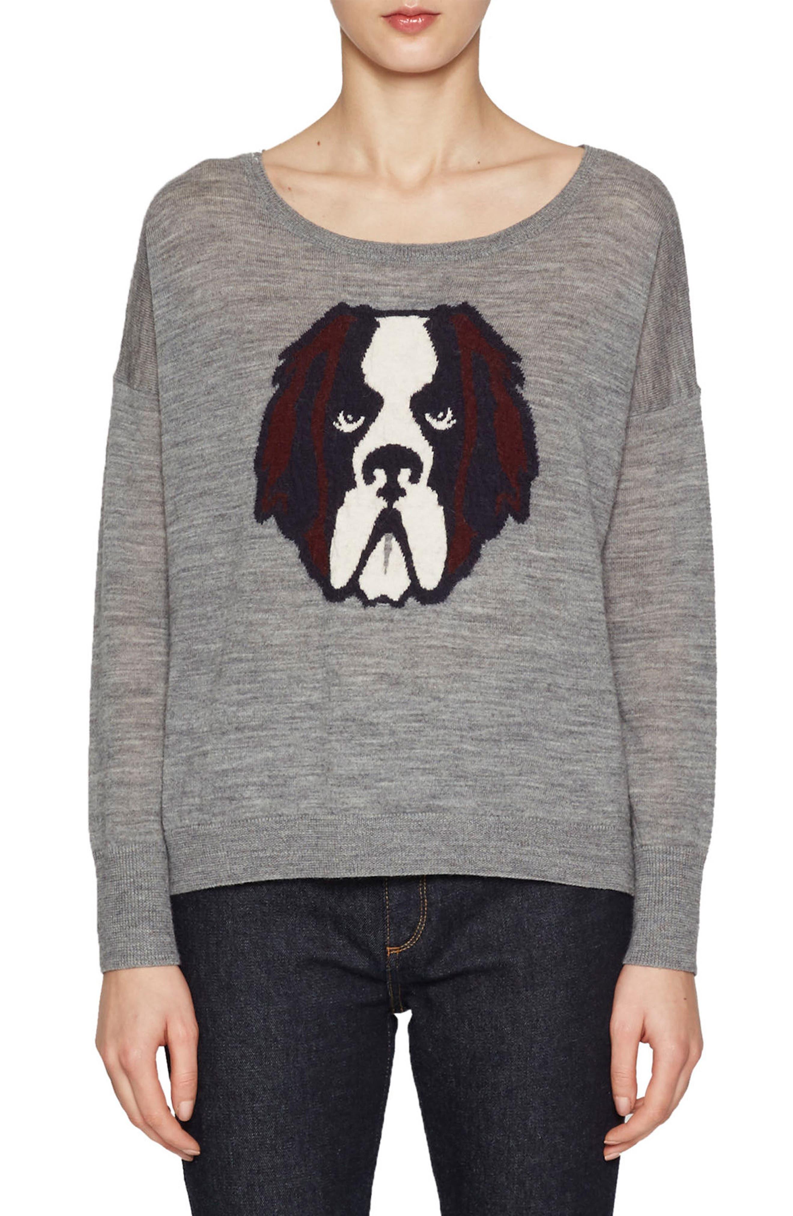 Otis Intarsia Sweater,                         Main,                         color, Mid Grey Multi