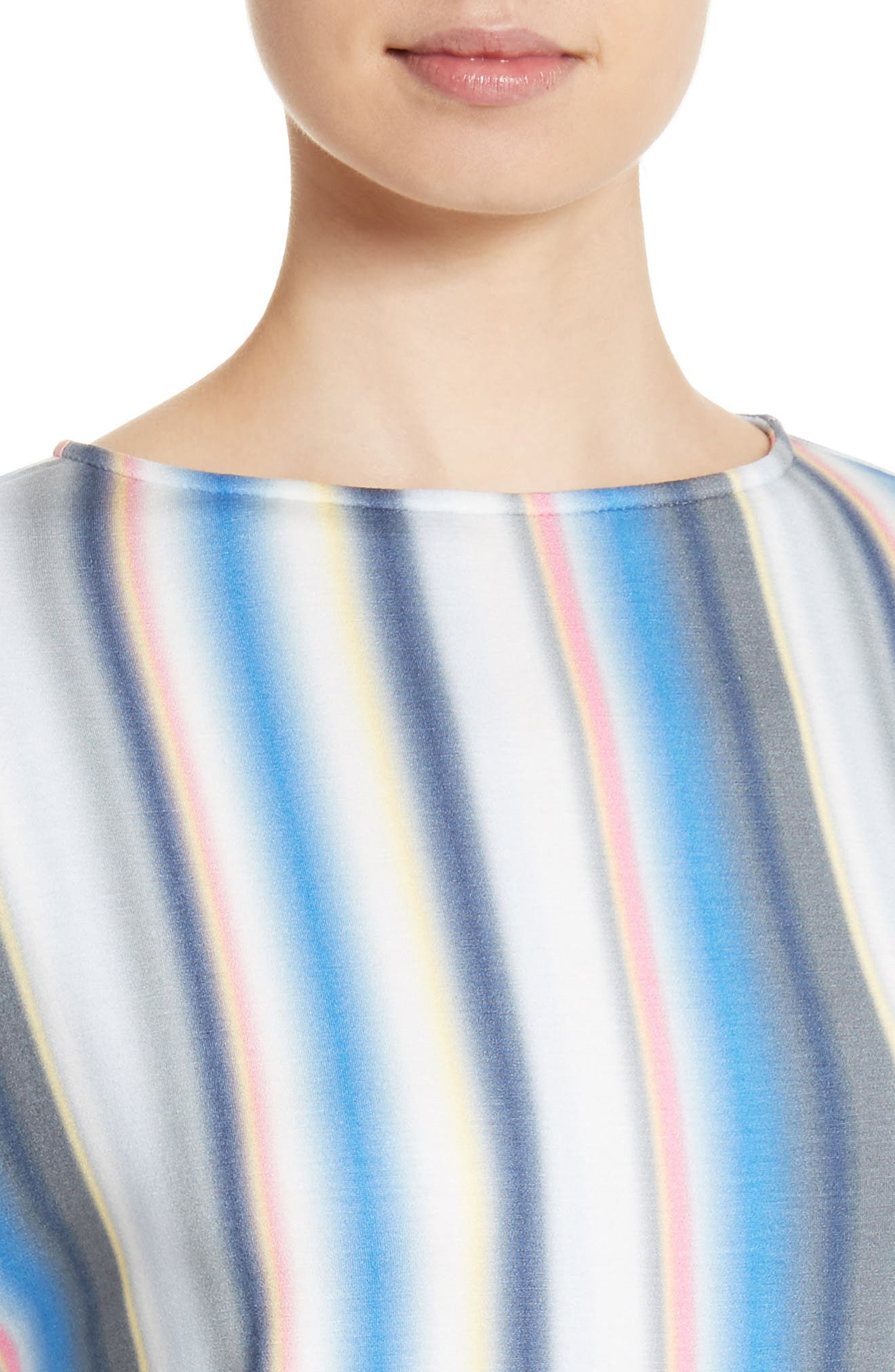 Blurred Stripe Jersey Top,                             Alternate thumbnail 4, color,                             Niagara Multi