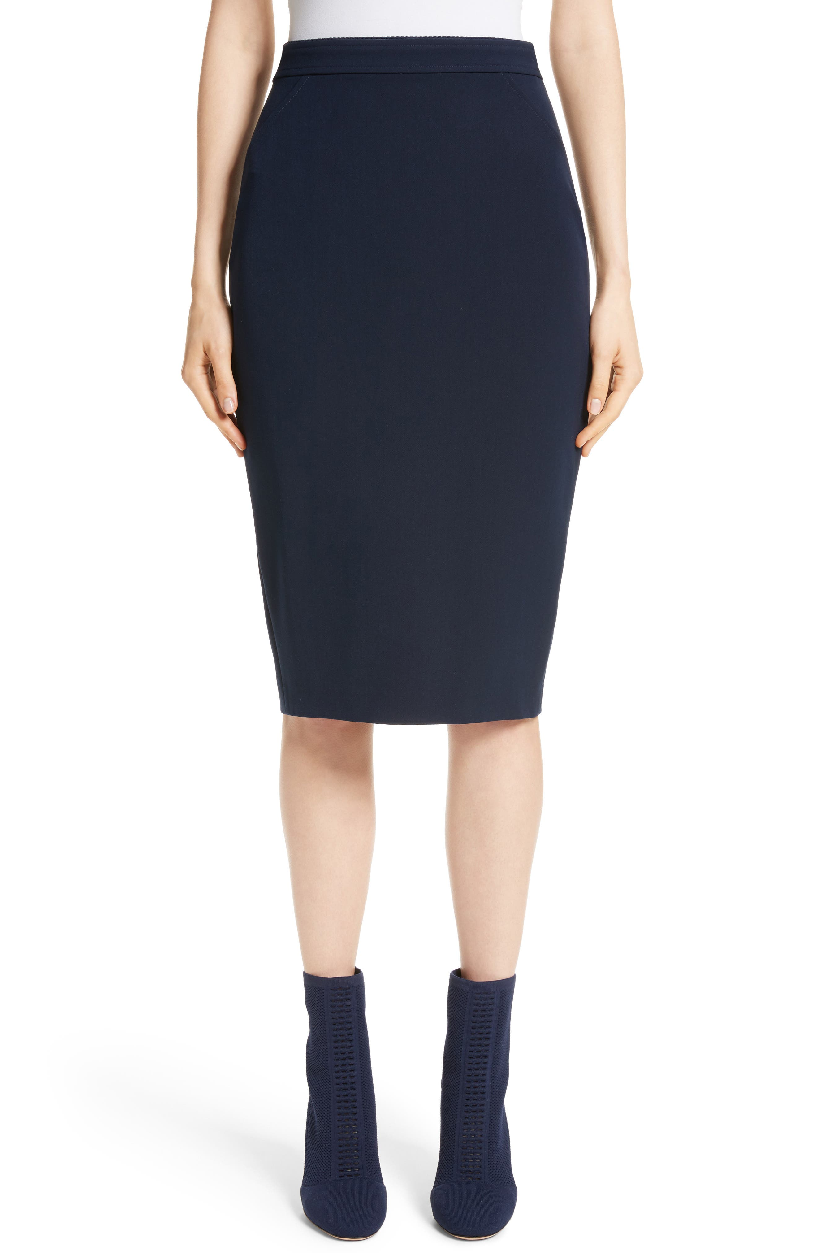 Main Image - St. John Collection Bella Double Weave Pencil Skirt