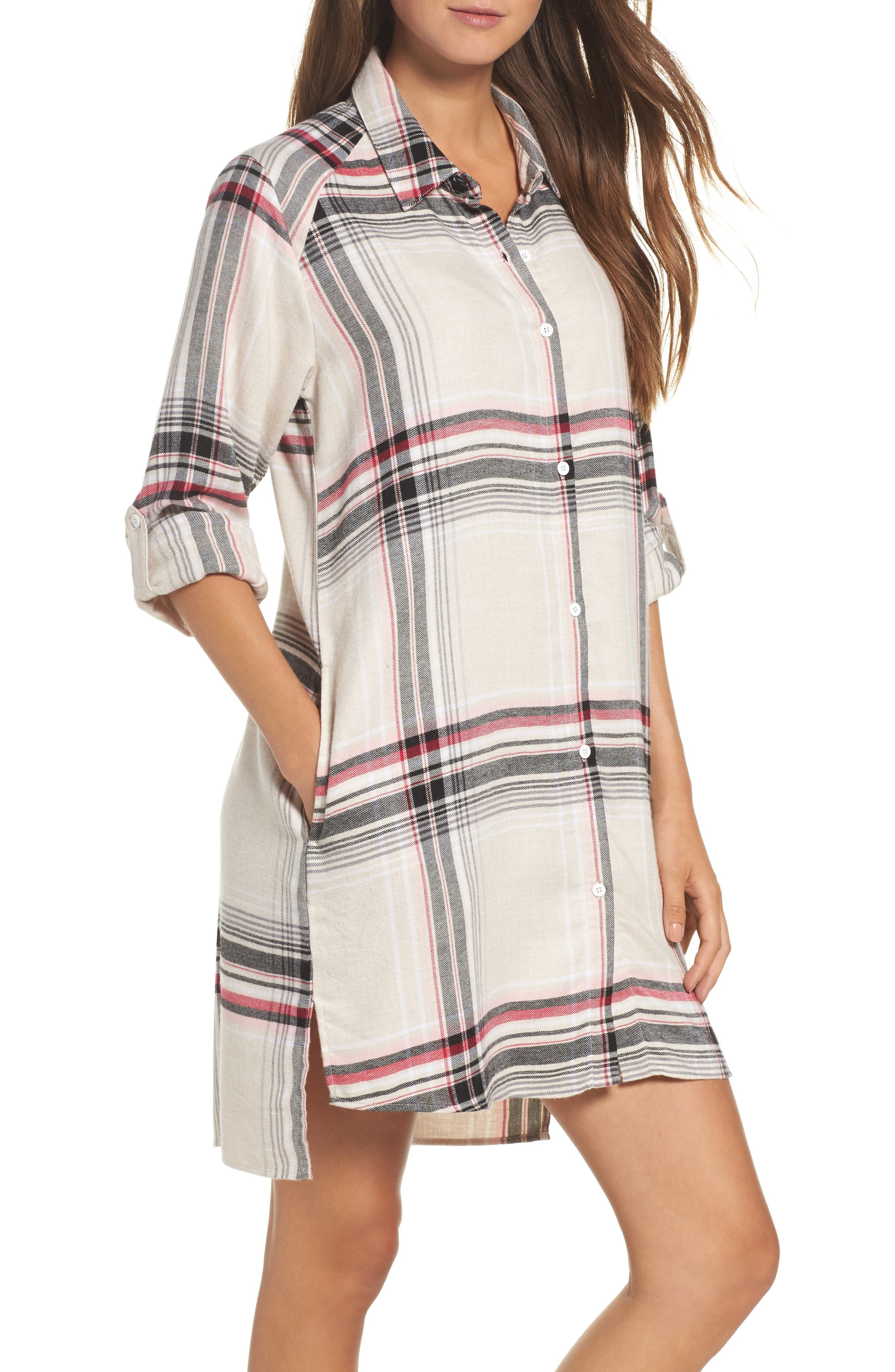DKNY Plaid Sleep Shirt