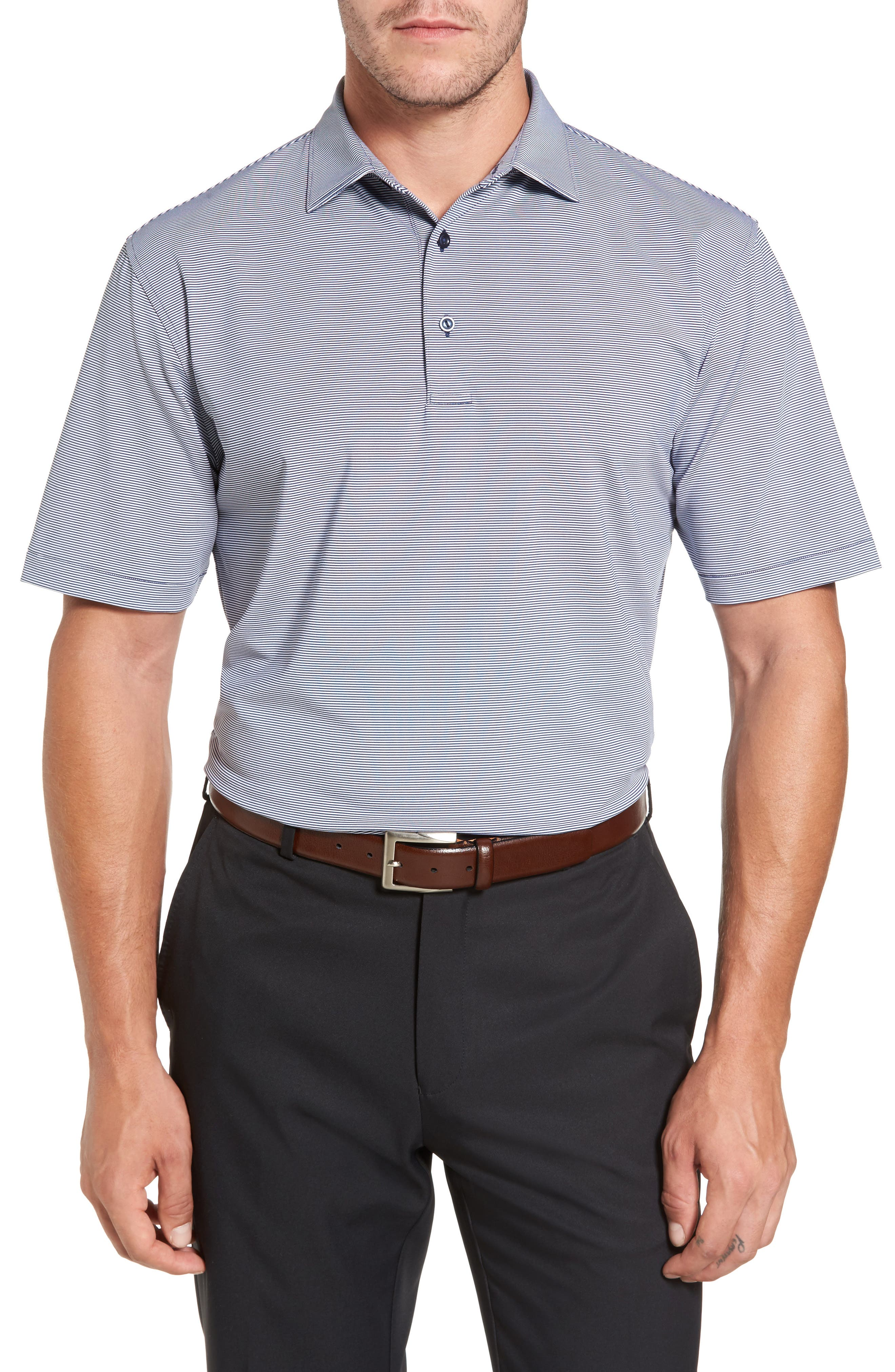 Alternate Image 1 Selected - Peter Millar Sean Jubilee Stripe Jersey Polo