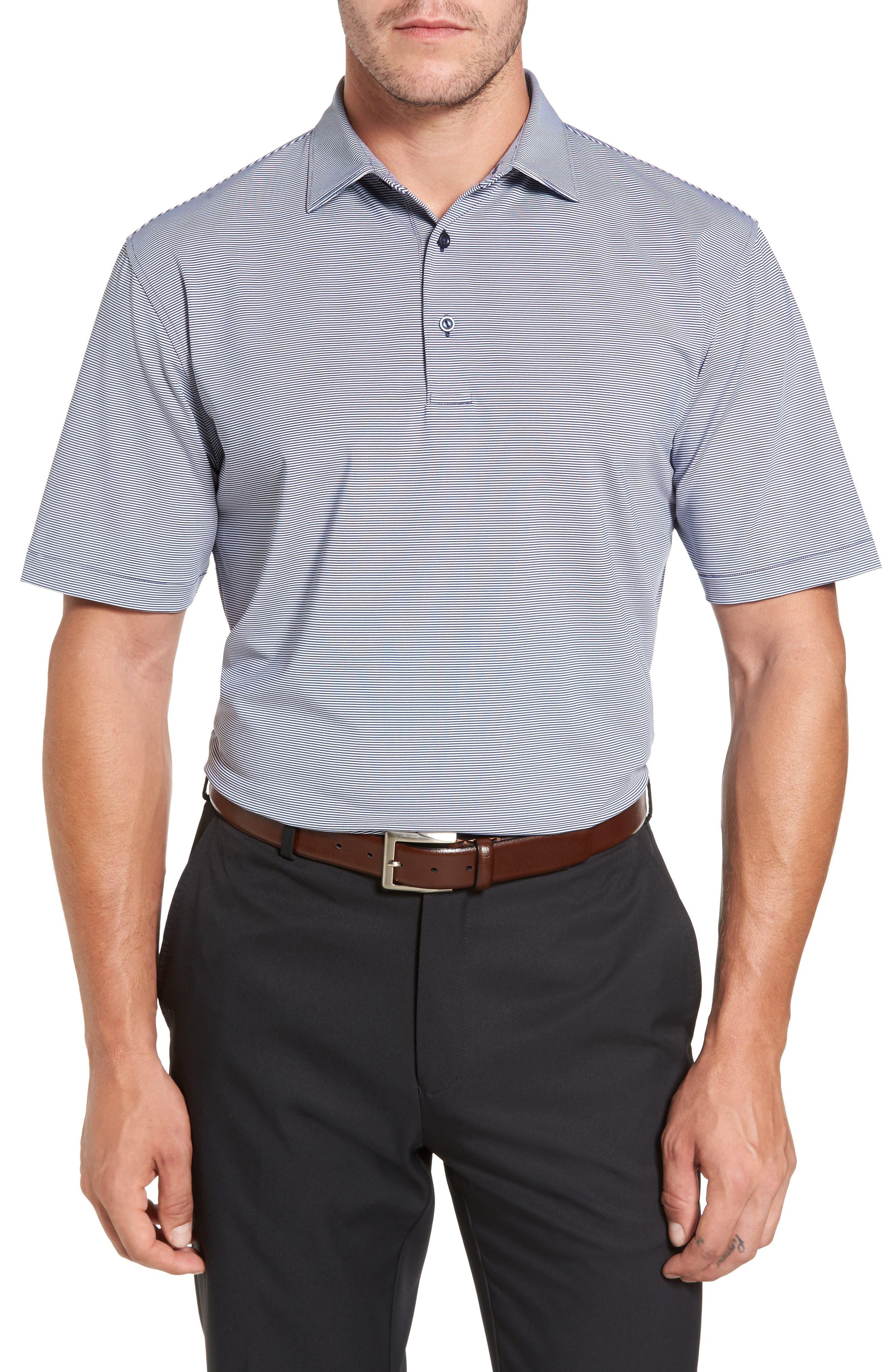 Sean Jubilee Stripe Jersey Polo,                         Main,                         color, Midnight