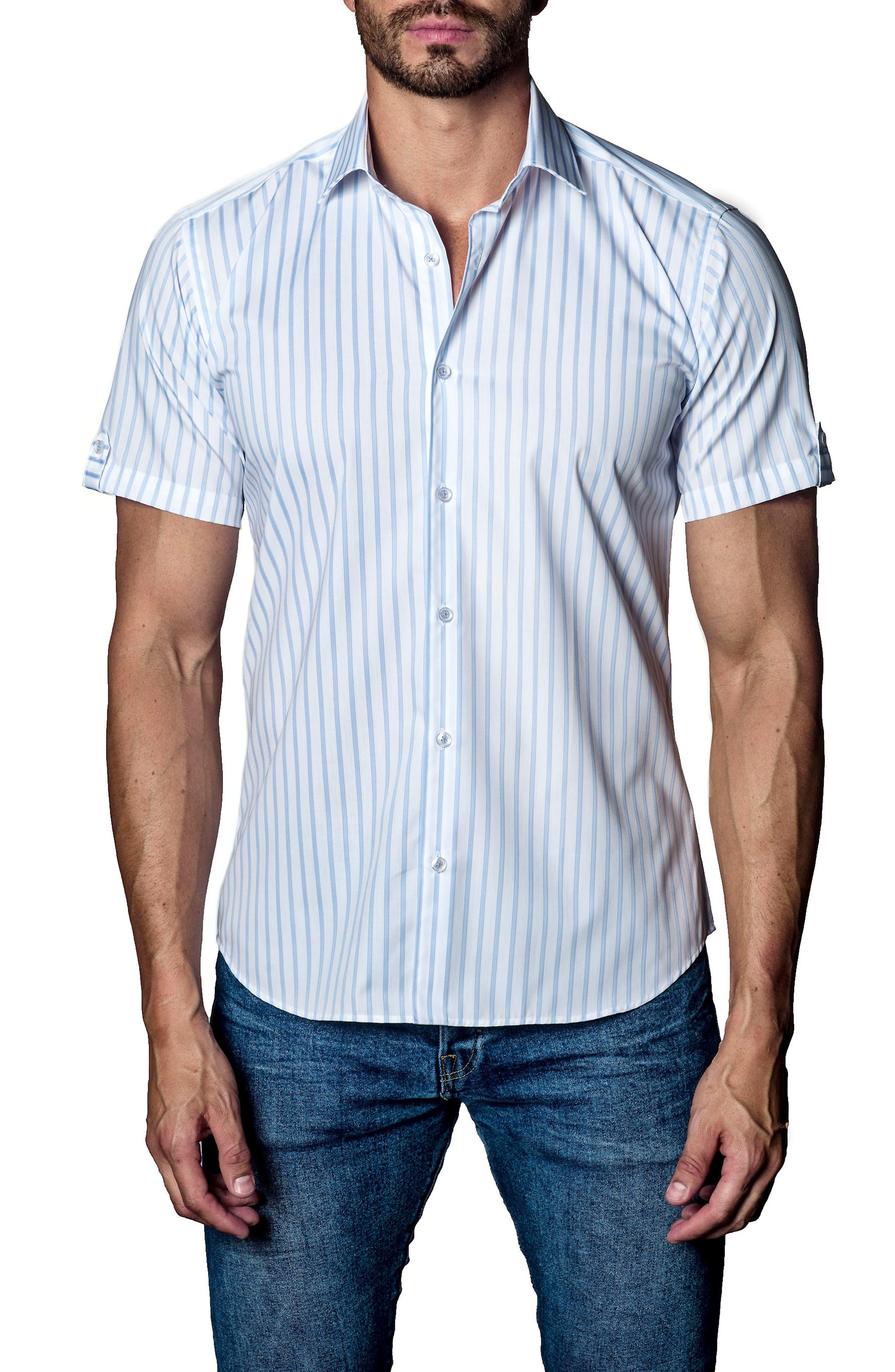 JARED LANG Stripe Sport Shirt