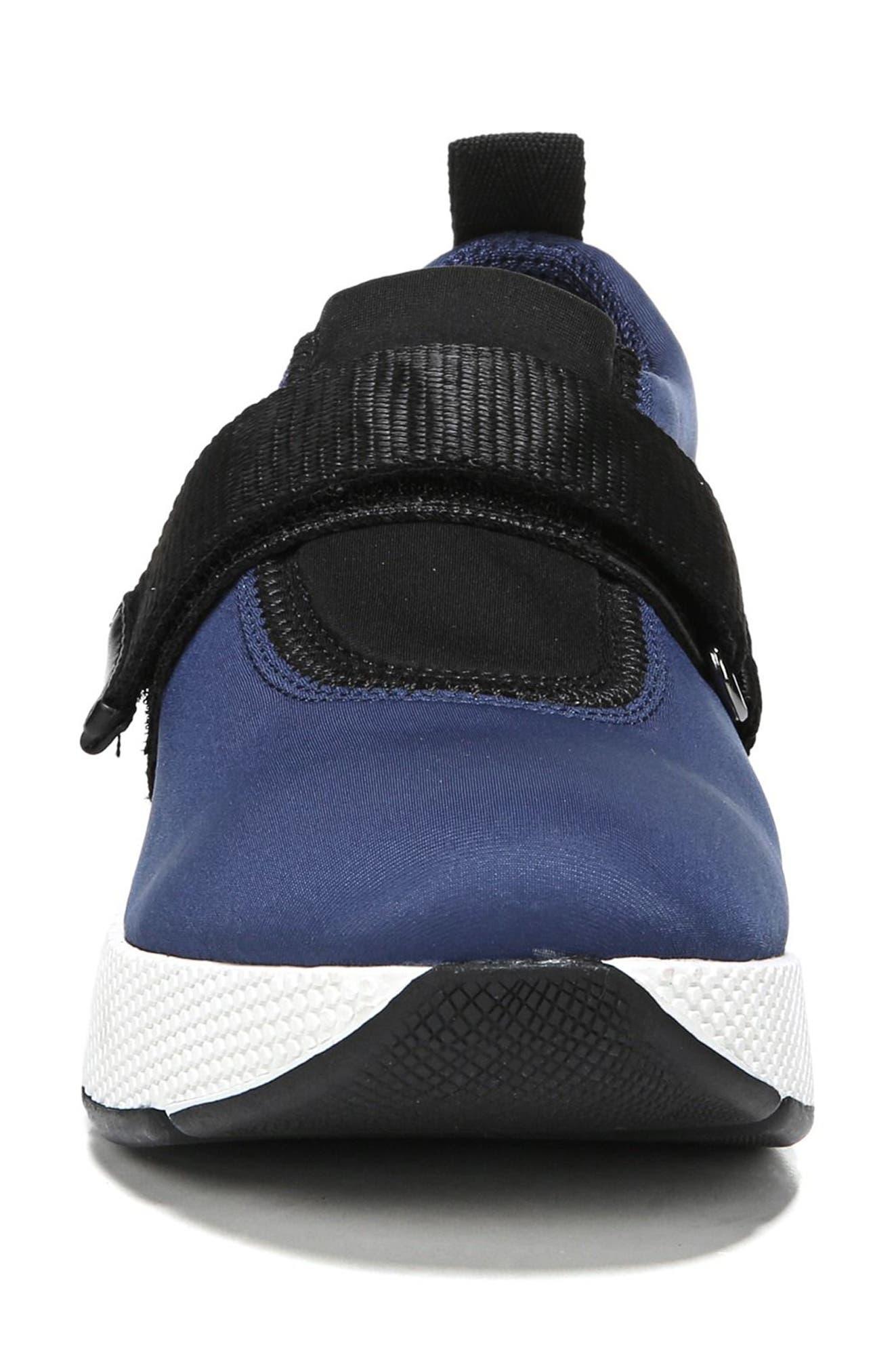 Odella Slip-On Sneaker,                             Alternate thumbnail 4, color,                             Navy Fabric