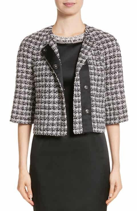 St. John Collection Metallic Plaid Tweed Jacket Price