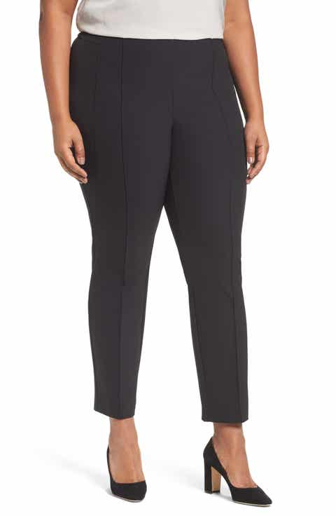 Lafayette 148 New York City Pintuck Slim Pants (Plus Size)