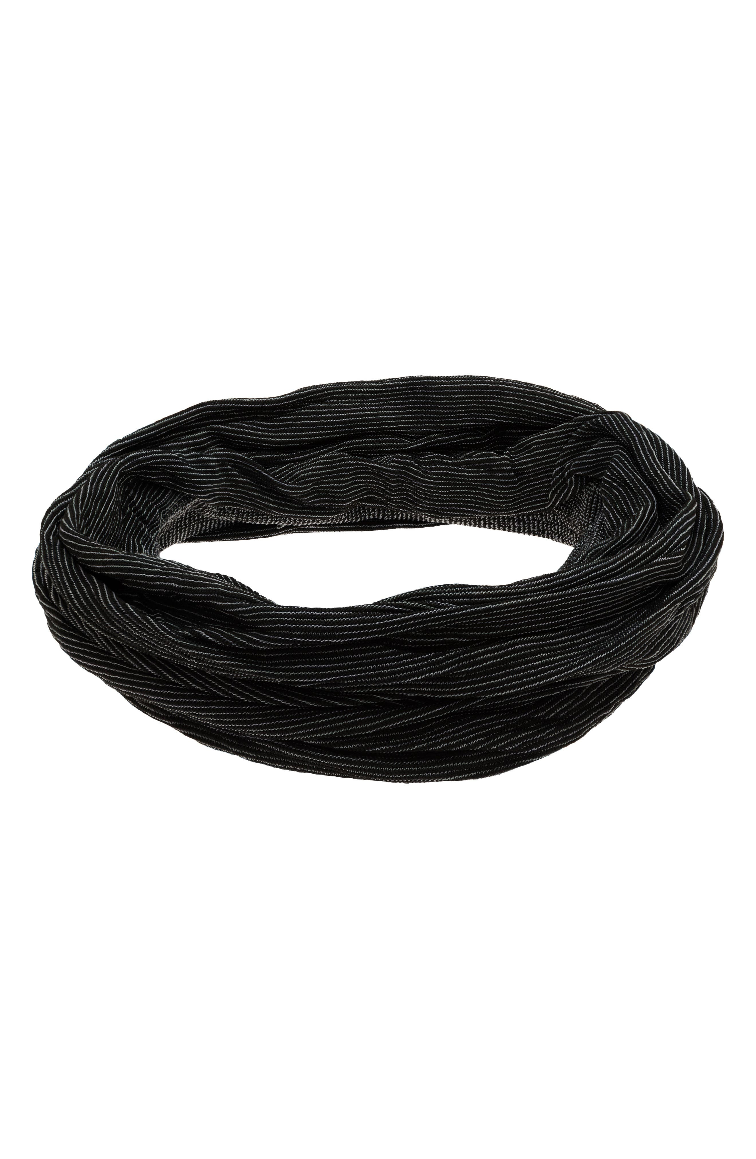 Space Dye Relaxed Turban Head Wrap,                             Alternate thumbnail 2, color,                             Black