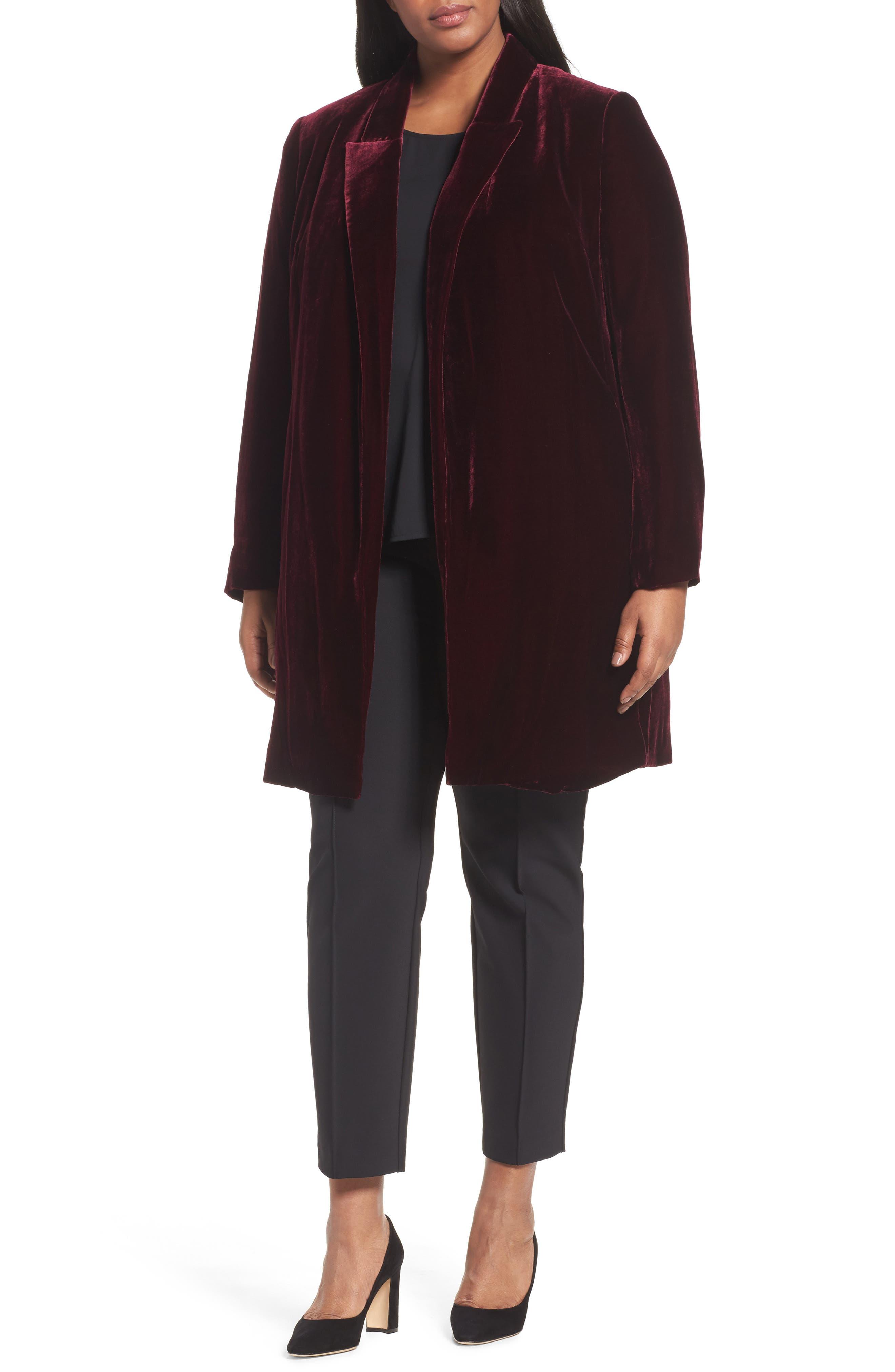 Lafayette 148 Naveah Long Velvet Jacket (Plus Size)