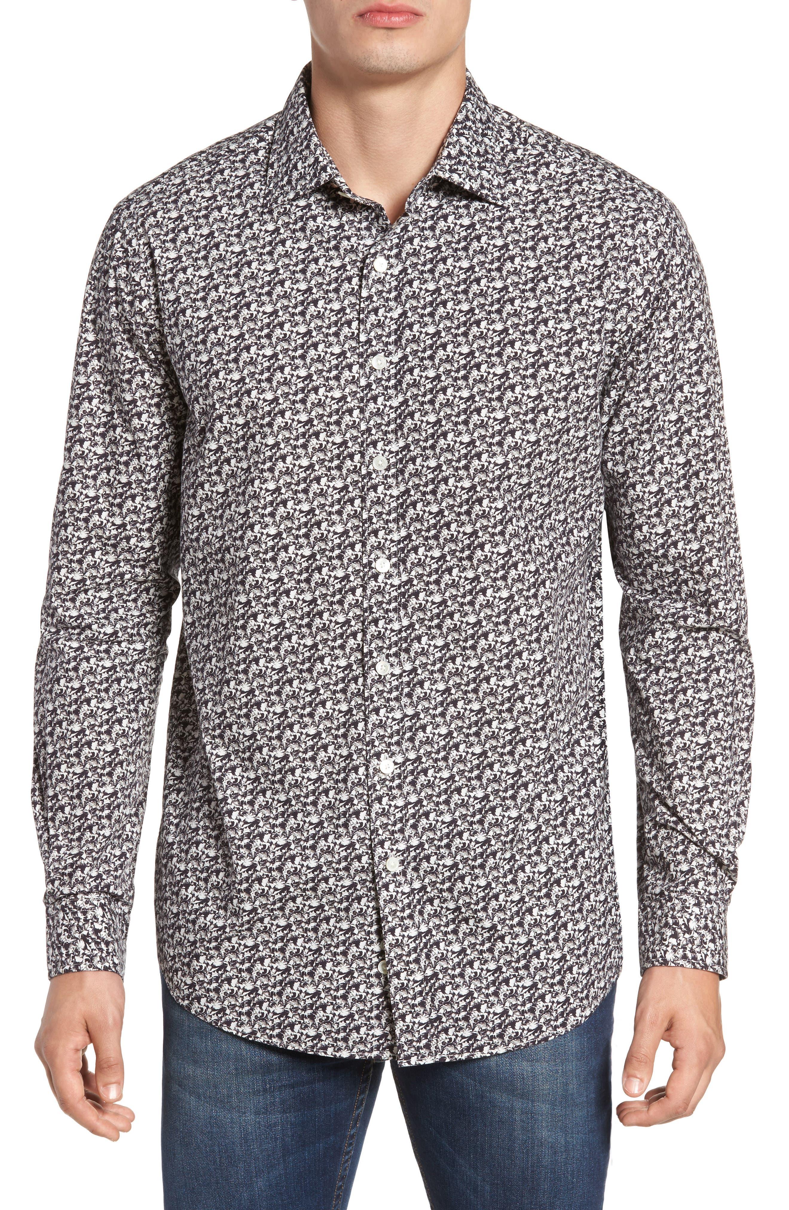Alternate Image 1 Selected - Rodd & Gunn Bucklands Beach Print Sport Shirt