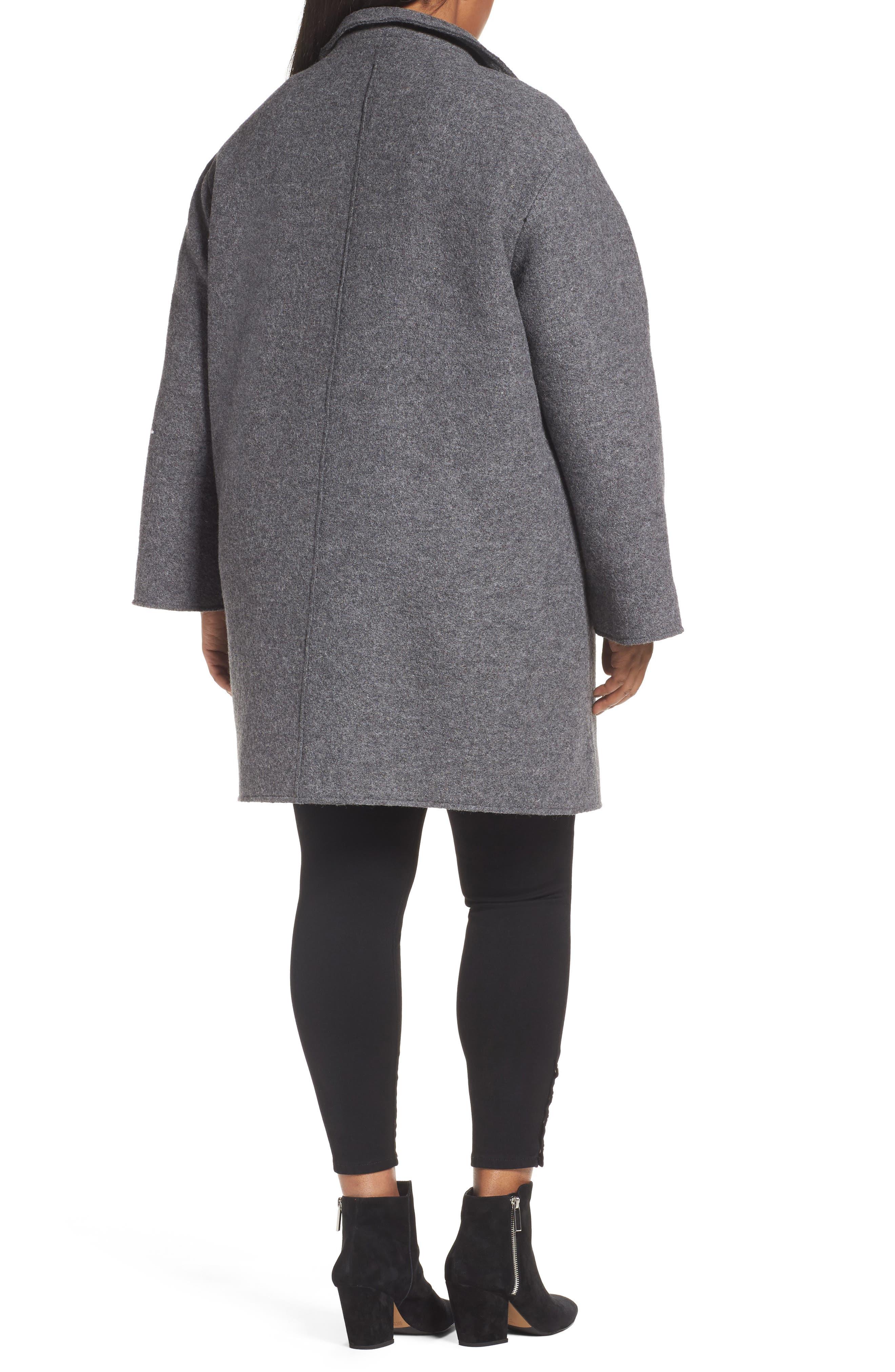 Wool Blend Coat,                             Alternate thumbnail 2, color,                             Medium Charcoal