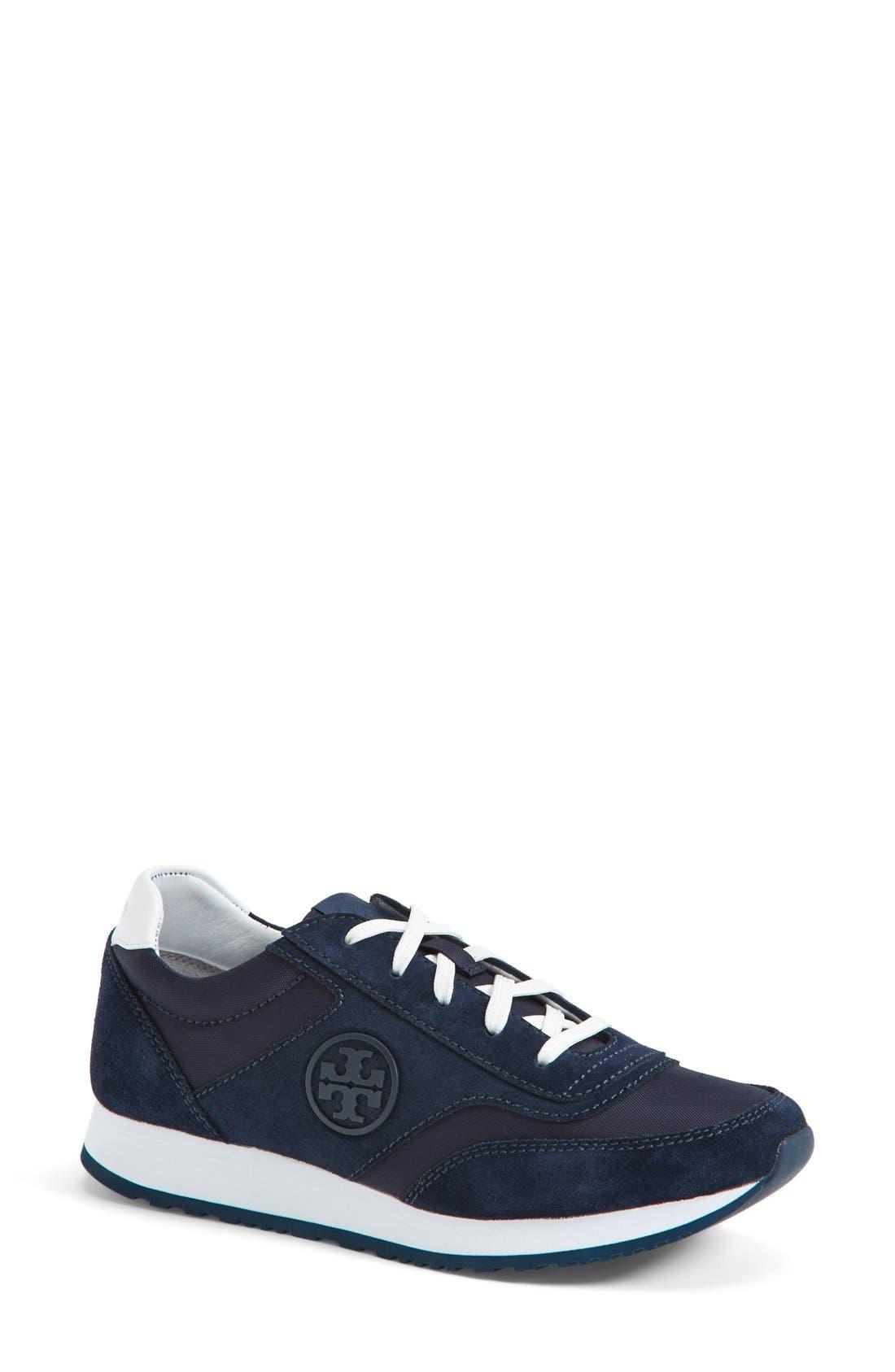 Main Image - Tory Burch Logo Sneaker (Women)