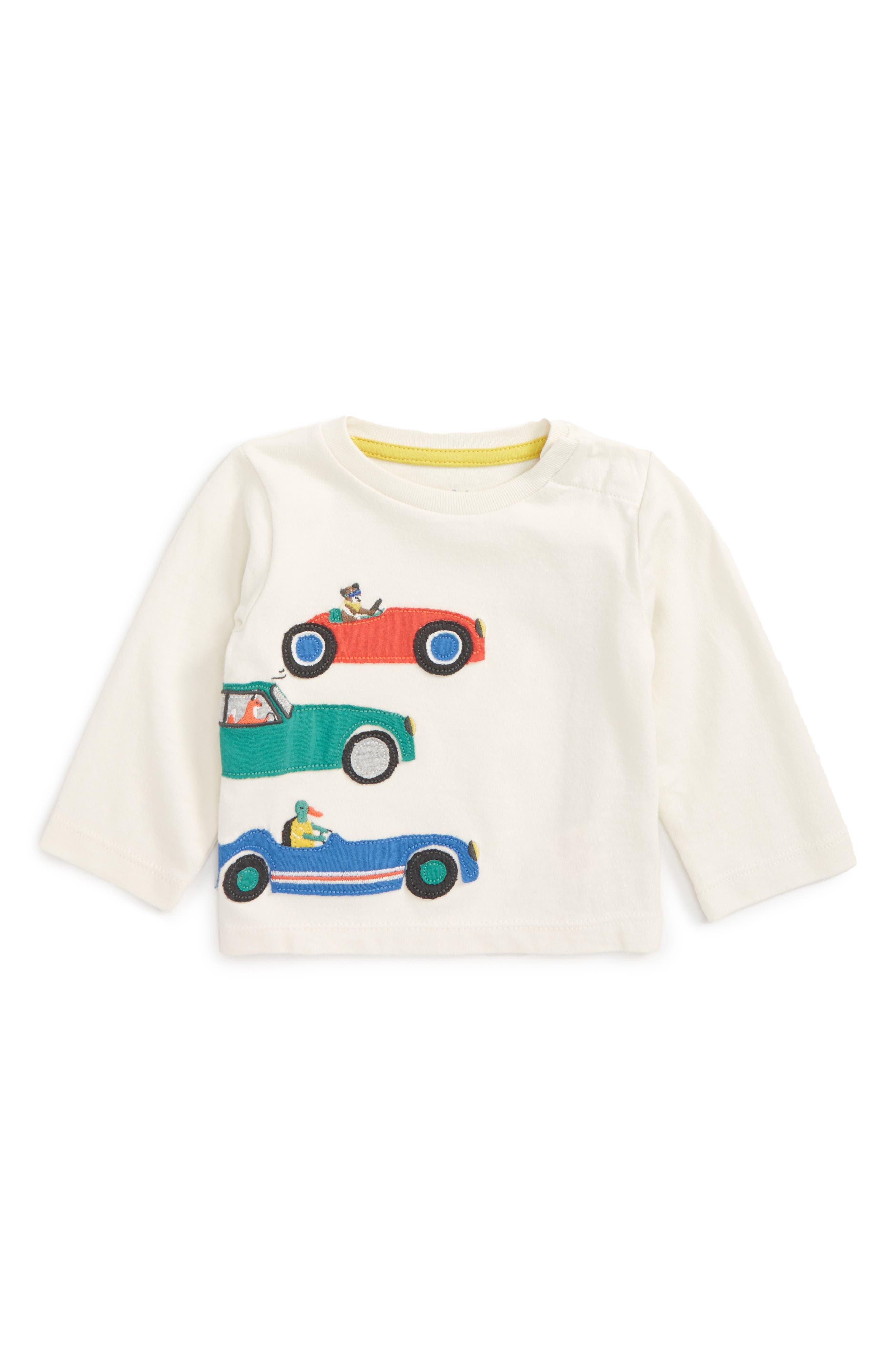 Main Image - Mini Boden Vehicle Appliqué T-Shirt (Baby Boys & Toddler Boys)