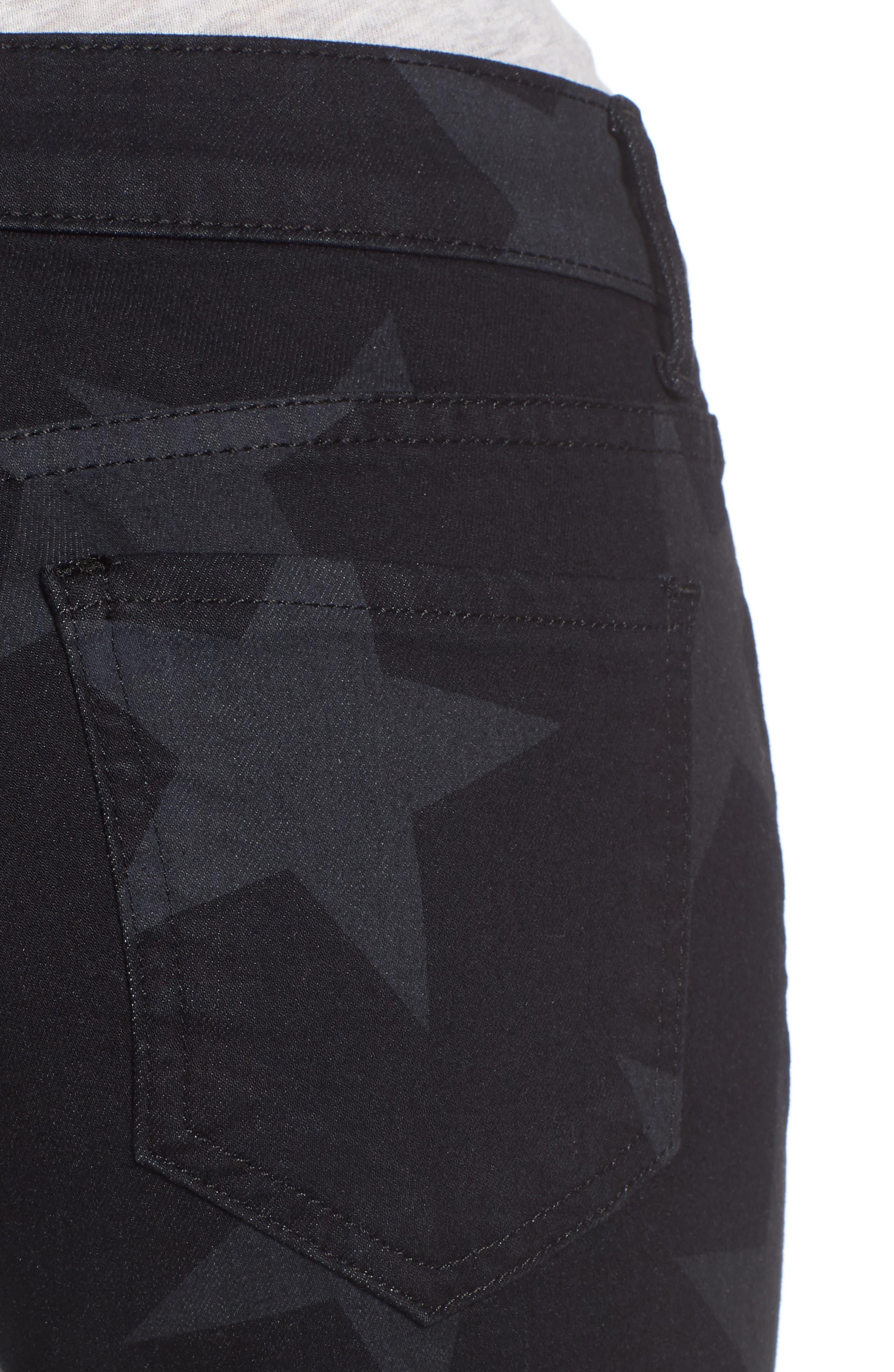Mia Star Print Skinny Jeans,                             Alternate thumbnail 4, color,                             Trailblazing