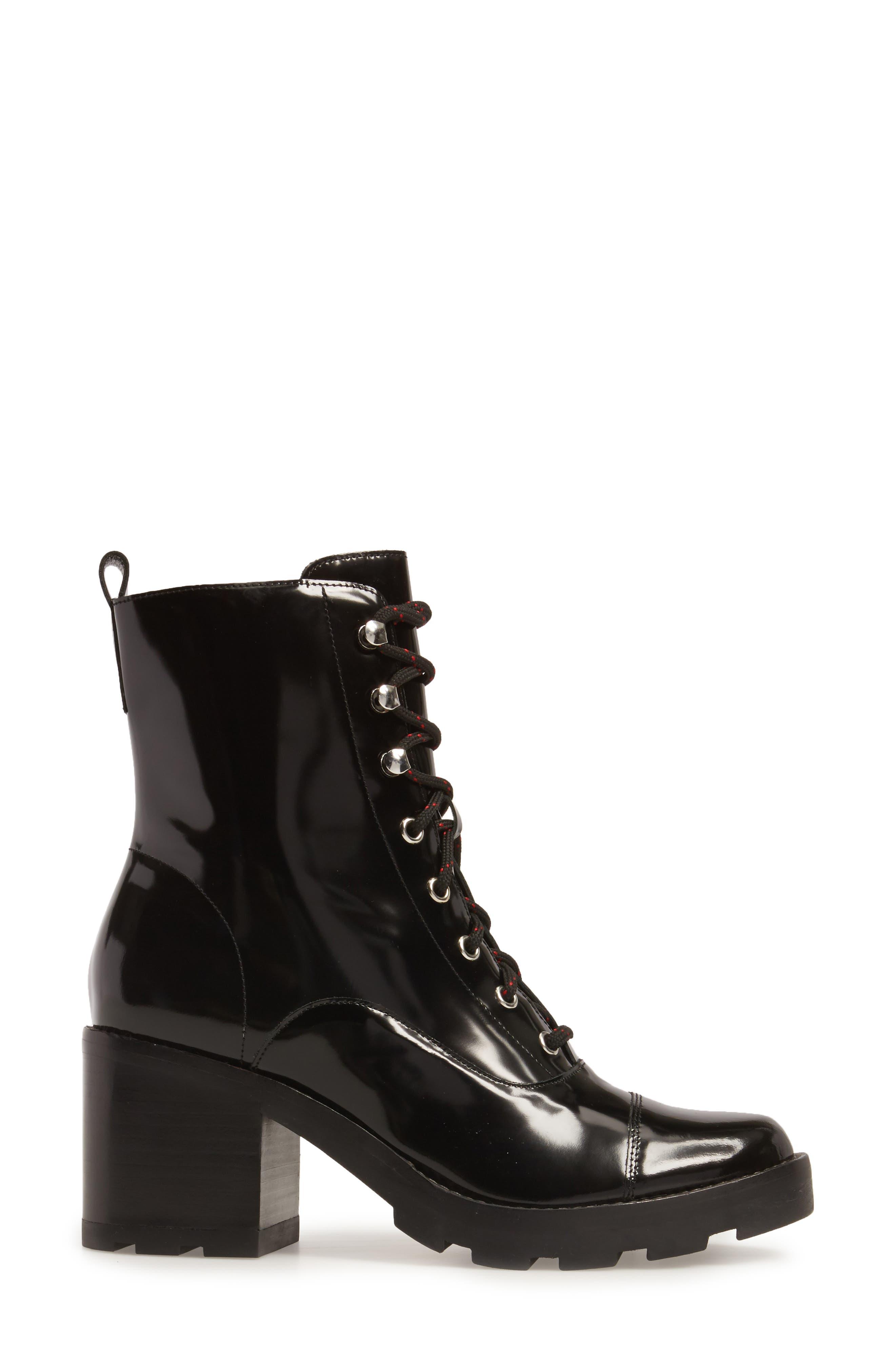 Wanya Boot,                             Alternate thumbnail 3, color,                             Black Leather
