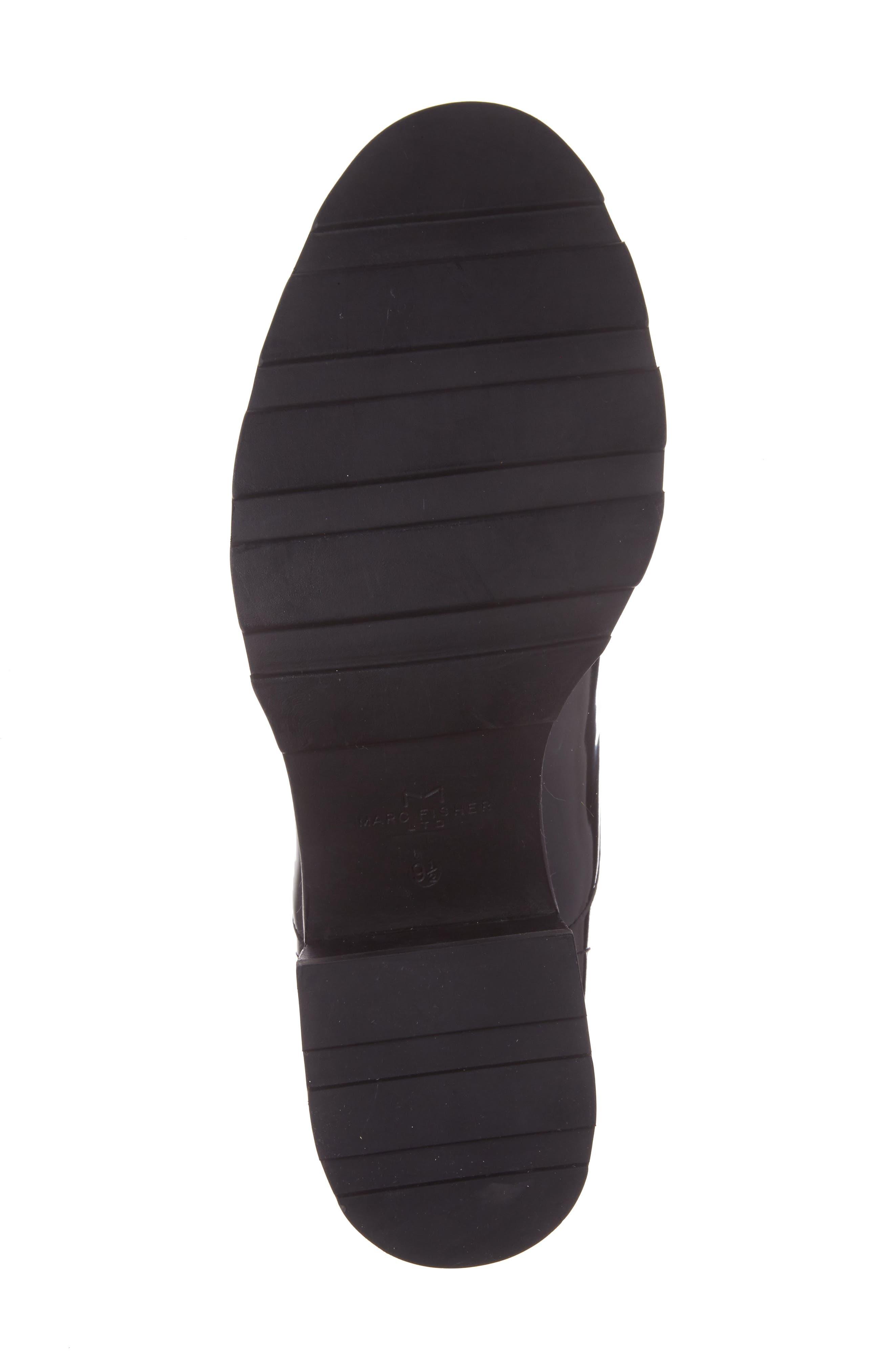 Wanya Boot,                             Alternate thumbnail 6, color,                             Black Leather