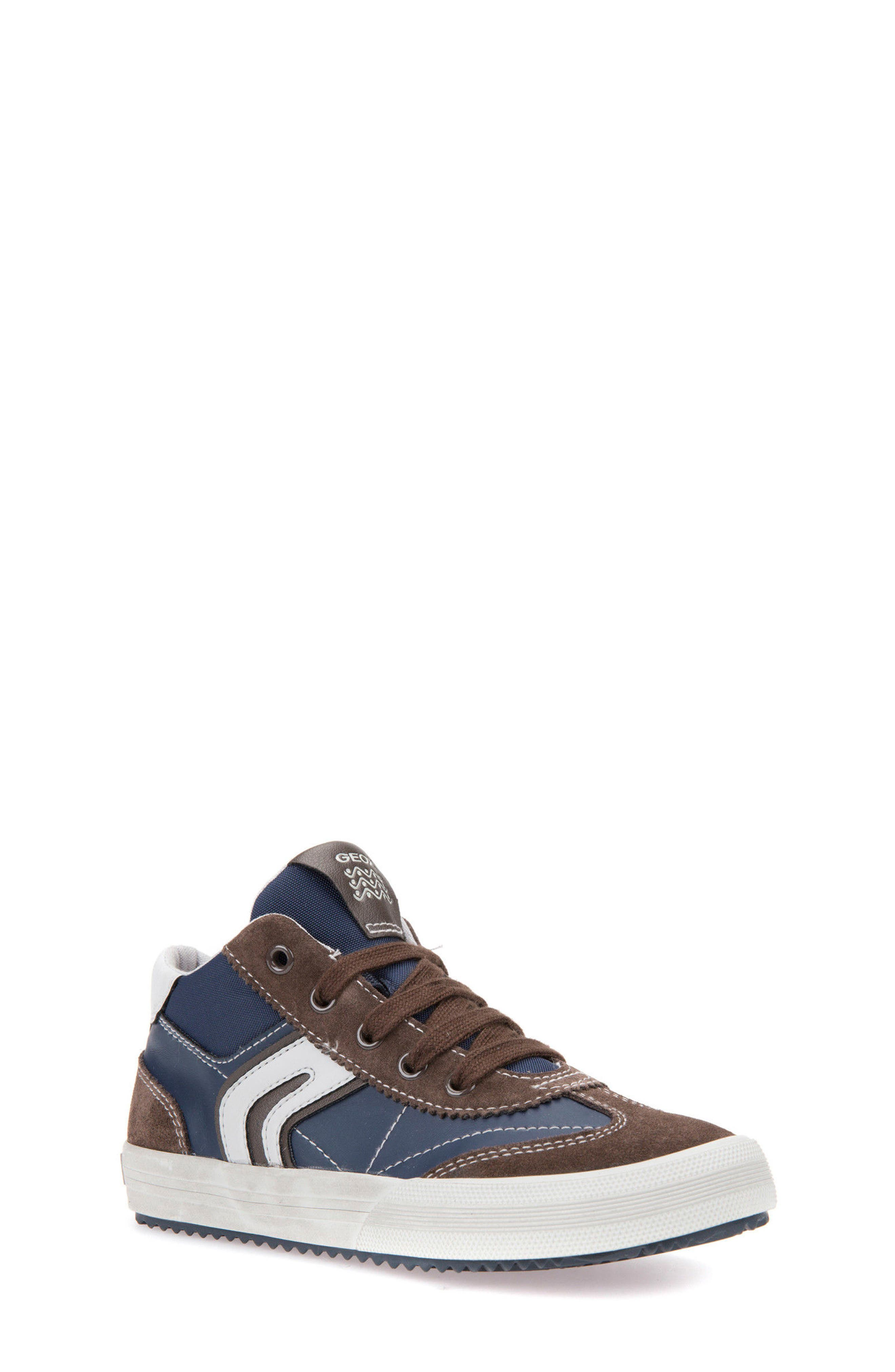 Alonisso Mid Top Sneaker,                             Main thumbnail 1, color,                             Navy/ Brown