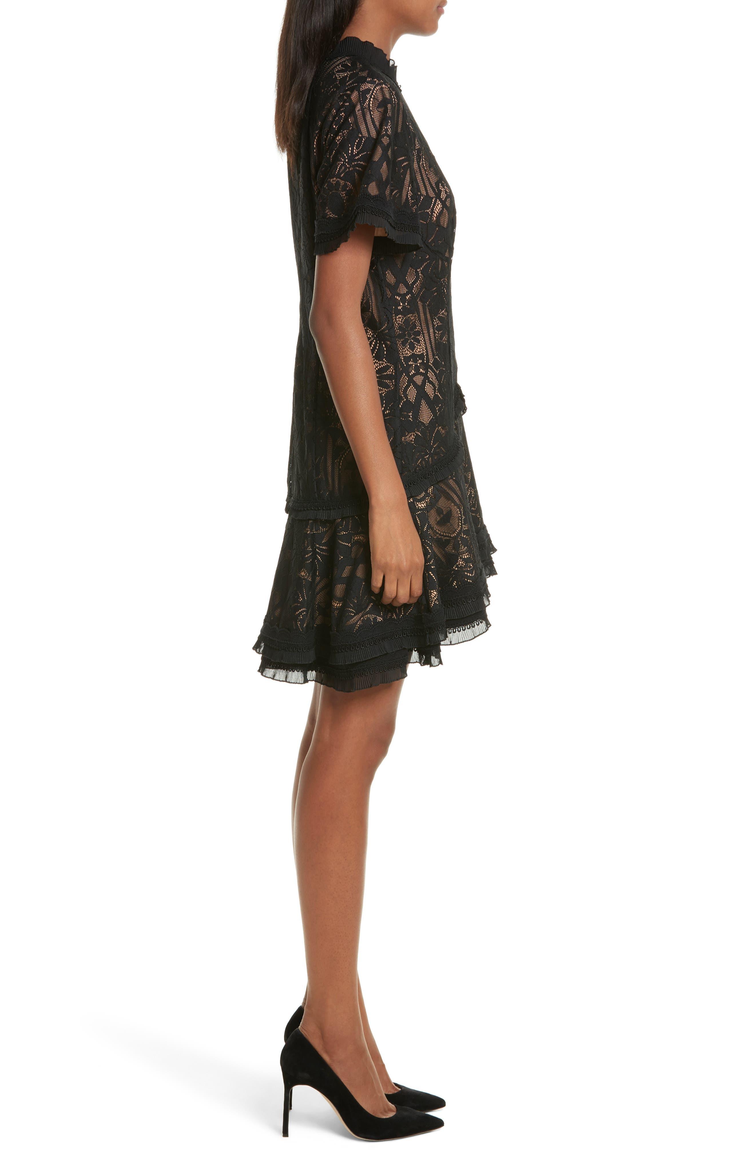 Alternate Image 3  - Jonathan Simkhai Tower Mesh Lace Ruffle Minidress