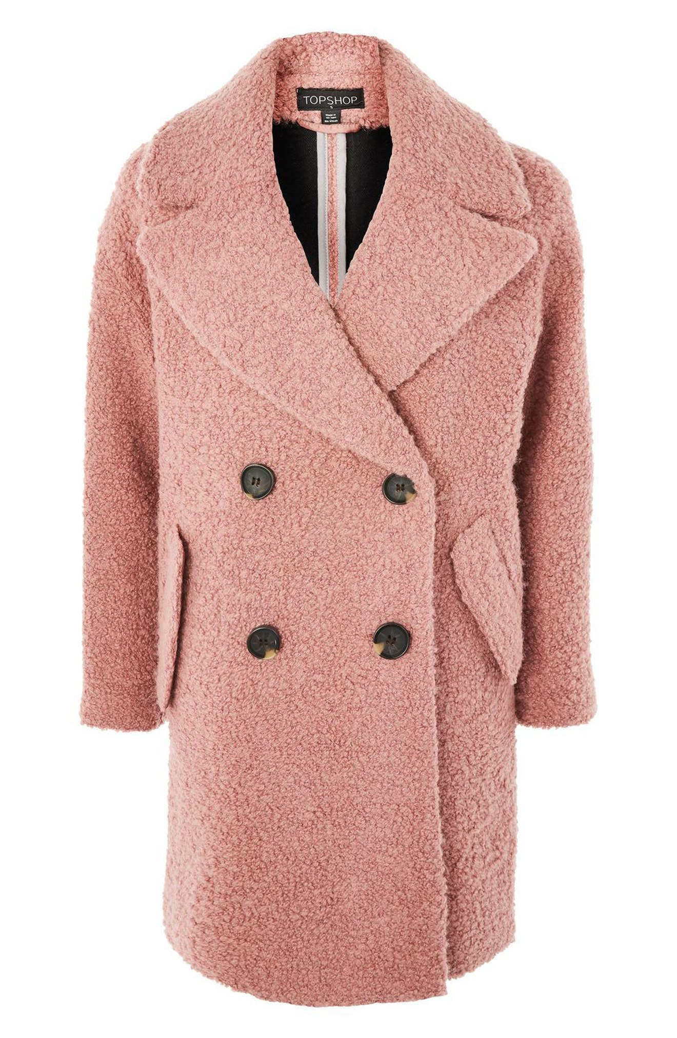 Alternate Image 5  - Topshop Alicia Bouclé Slouch Coat
