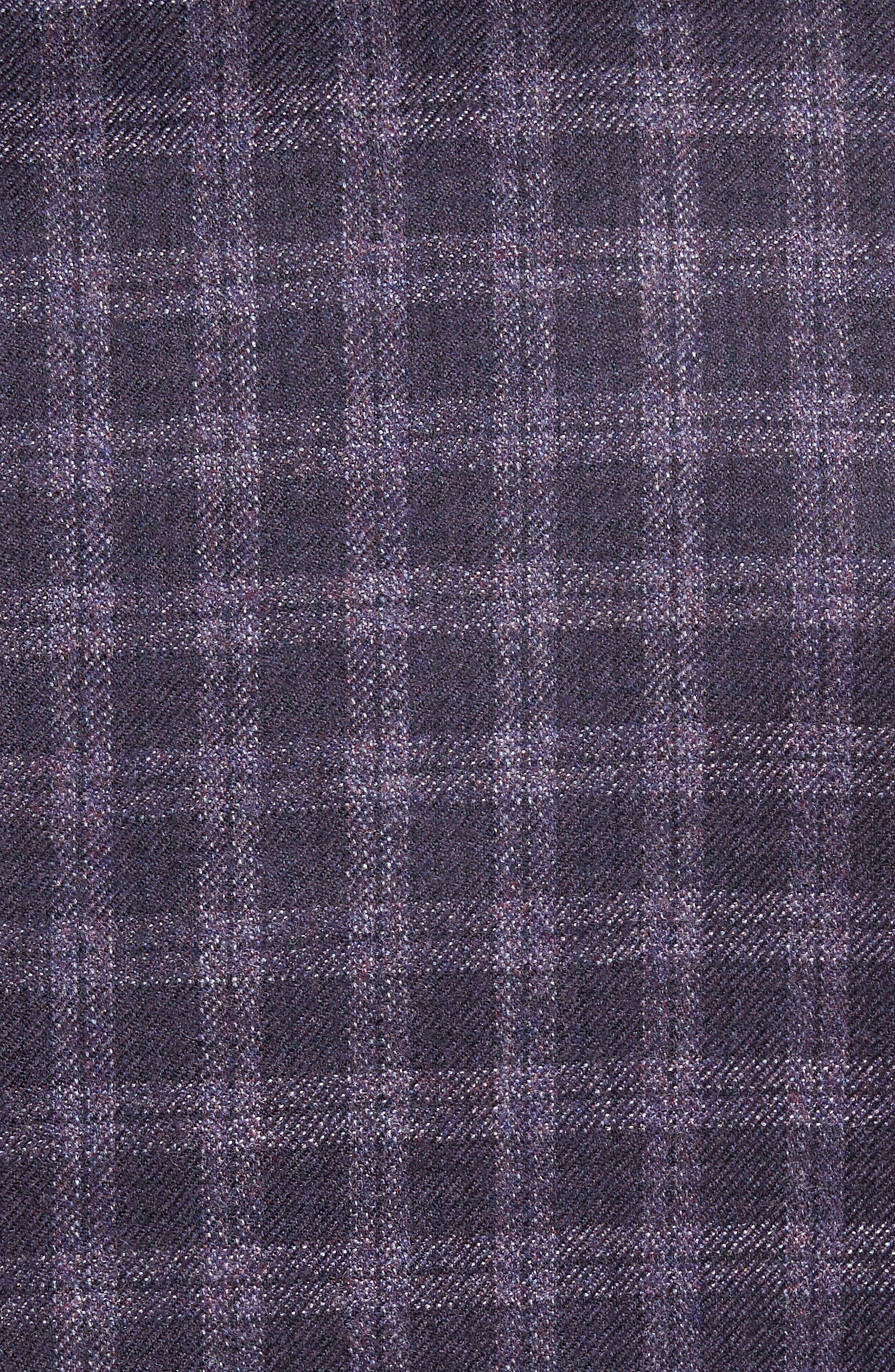 Ashton Classic Fit Check Wool Sport Coat,                             Alternate thumbnail 5, color,                             Burgundy