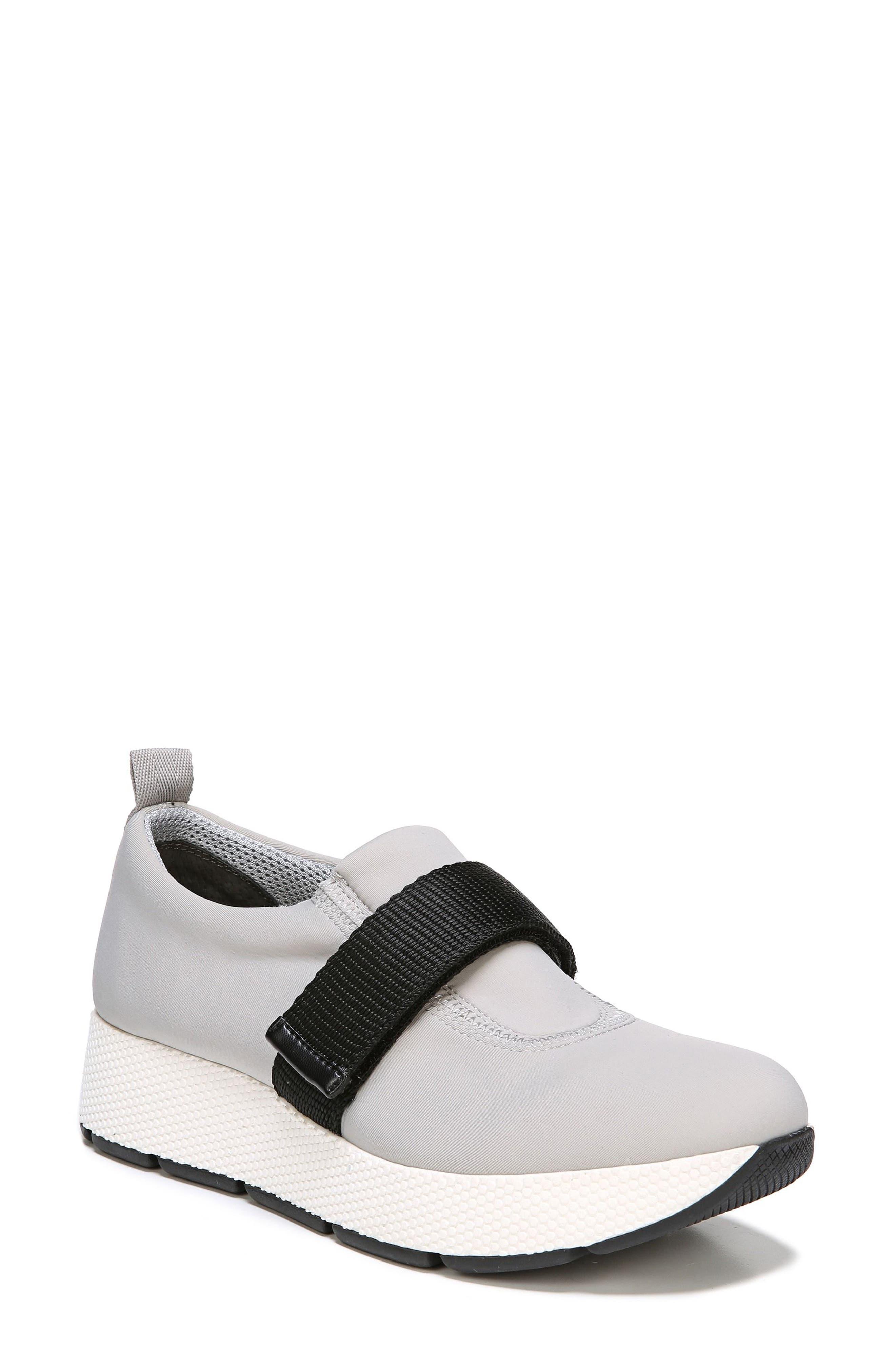 Odella Slip-On Sneaker,                             Main thumbnail 1, color,                             Light Grey Fabric