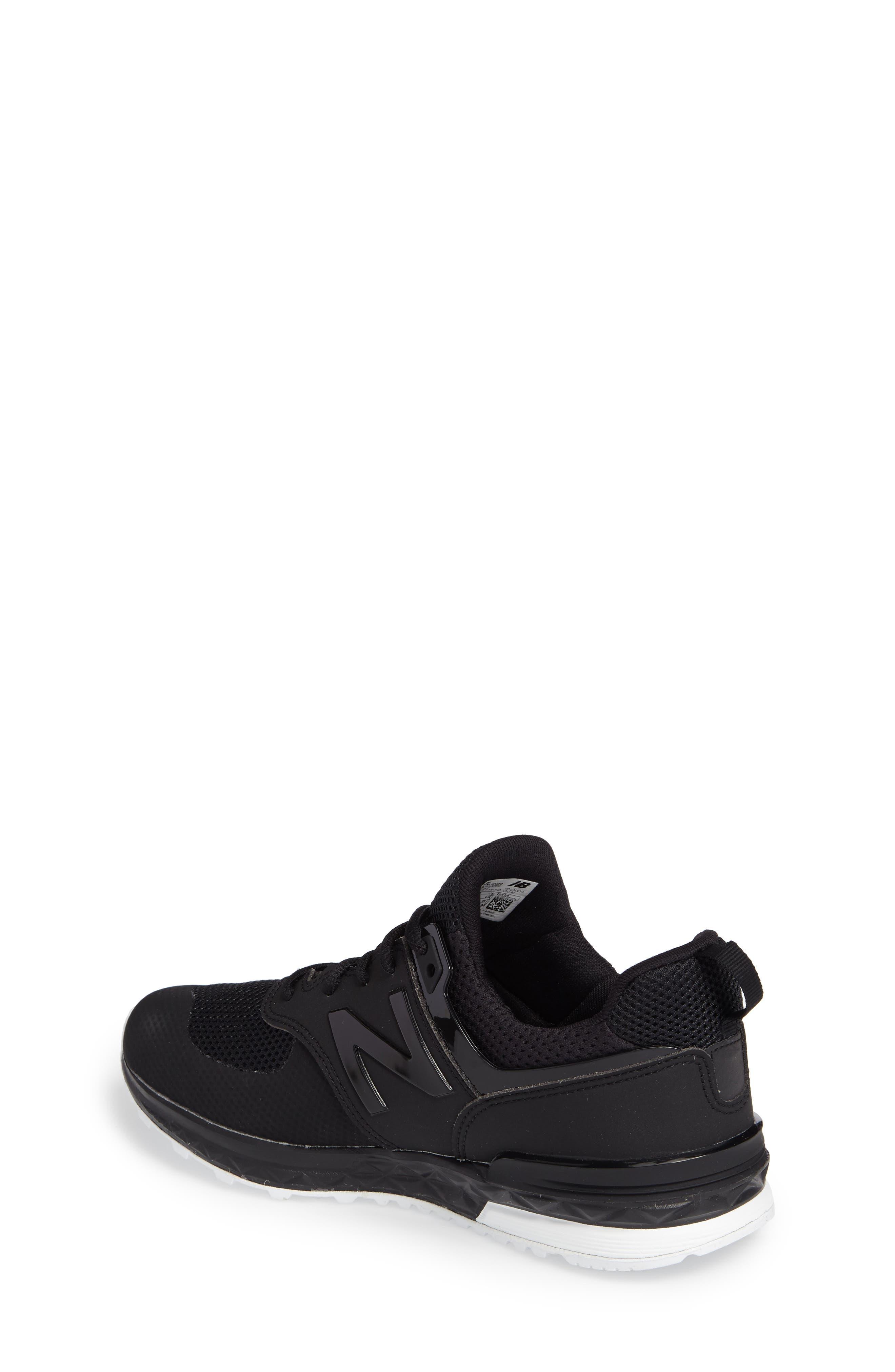 574 Sport Sneaker,                             Alternate thumbnail 2, color,                             Black