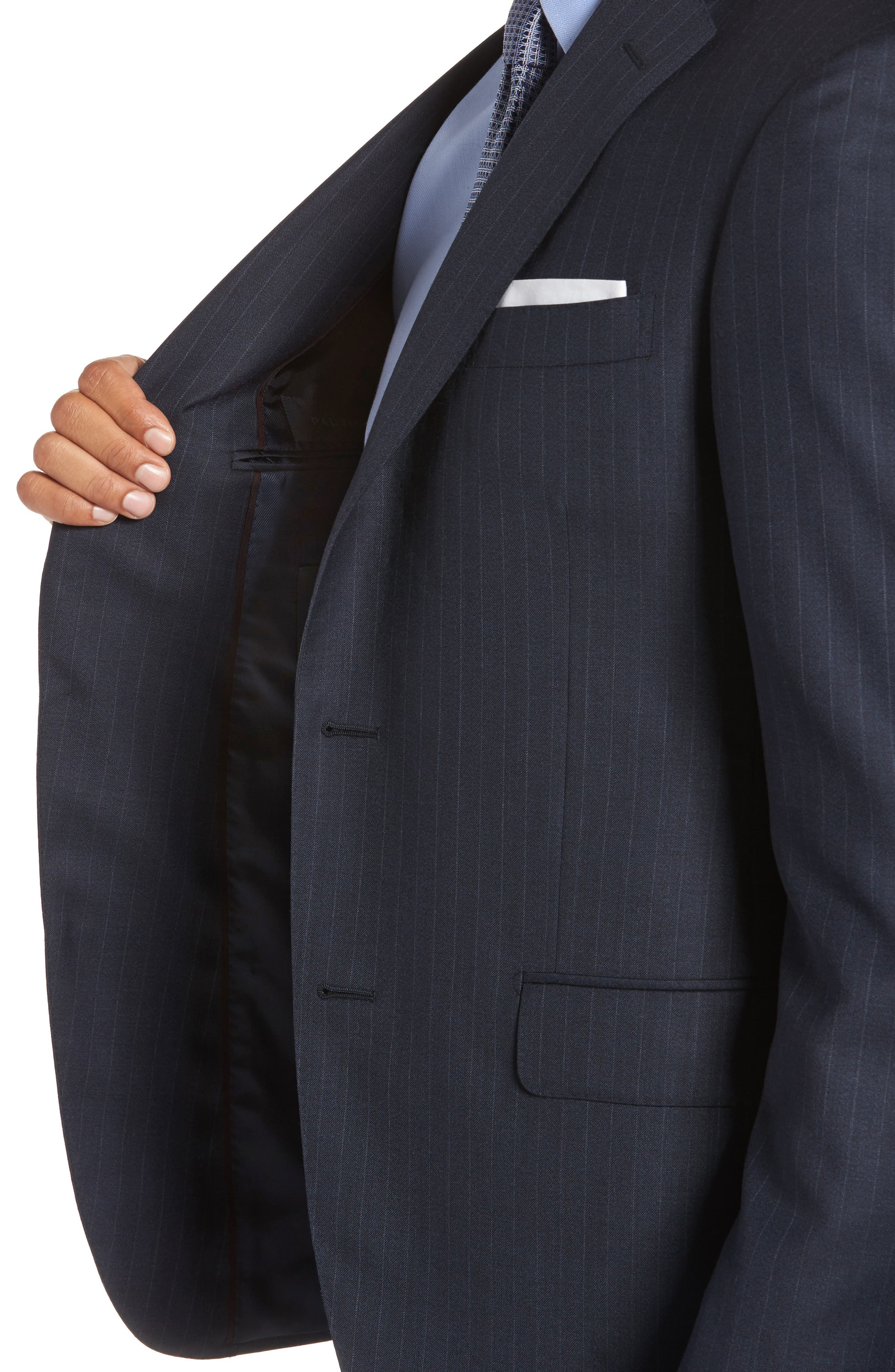 Alternate Image 4  - Pal Zileri Classic Fit Banker Stripe Wool Suit