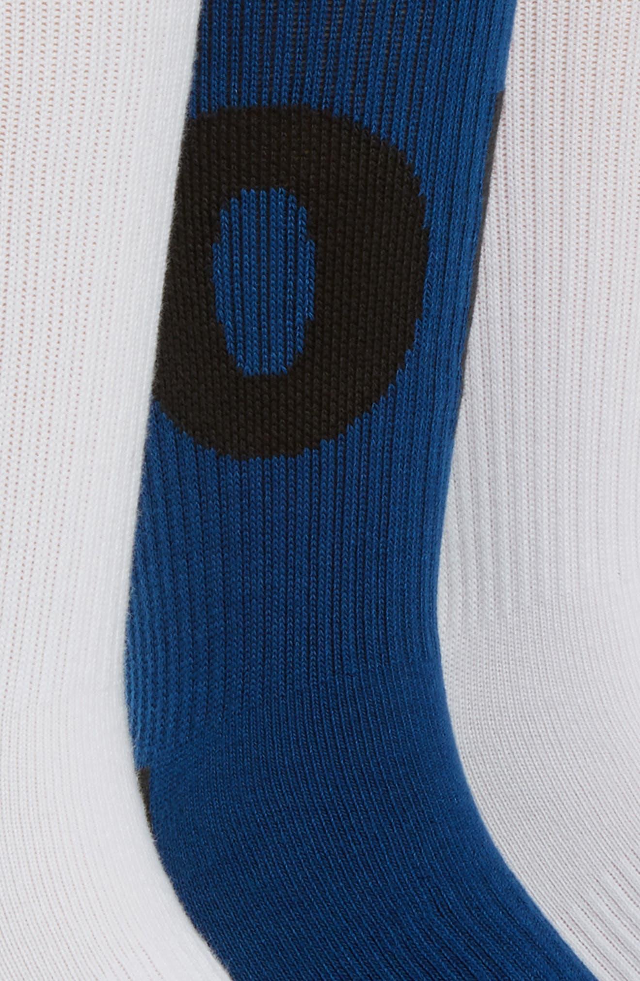 HBR 2-Pack Socks,                             Alternate thumbnail 2, color,                             Binary Blue/ White