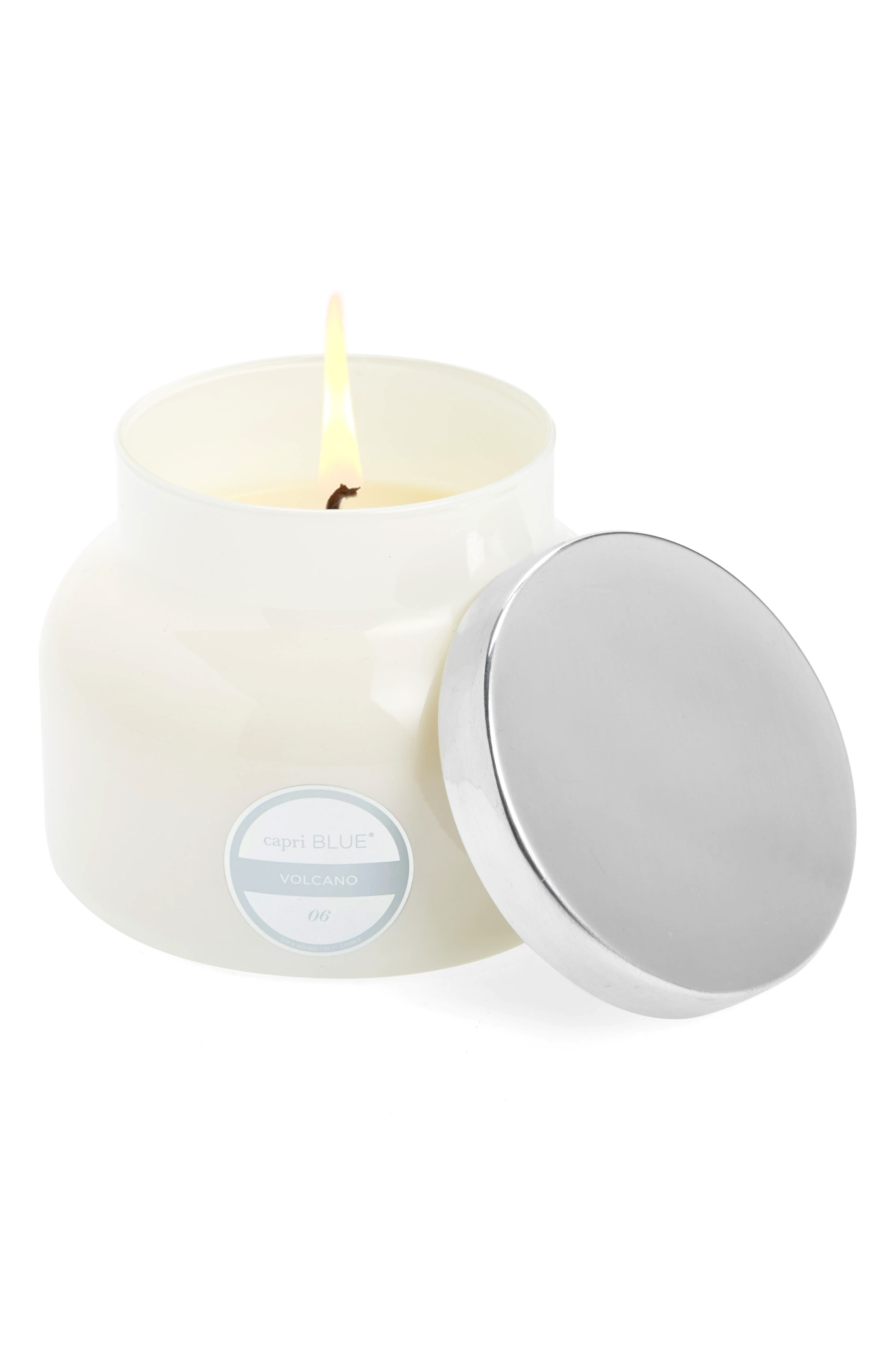 Volcano White Signature Jar Candle,                             Main thumbnail 1, color,                             Volcano