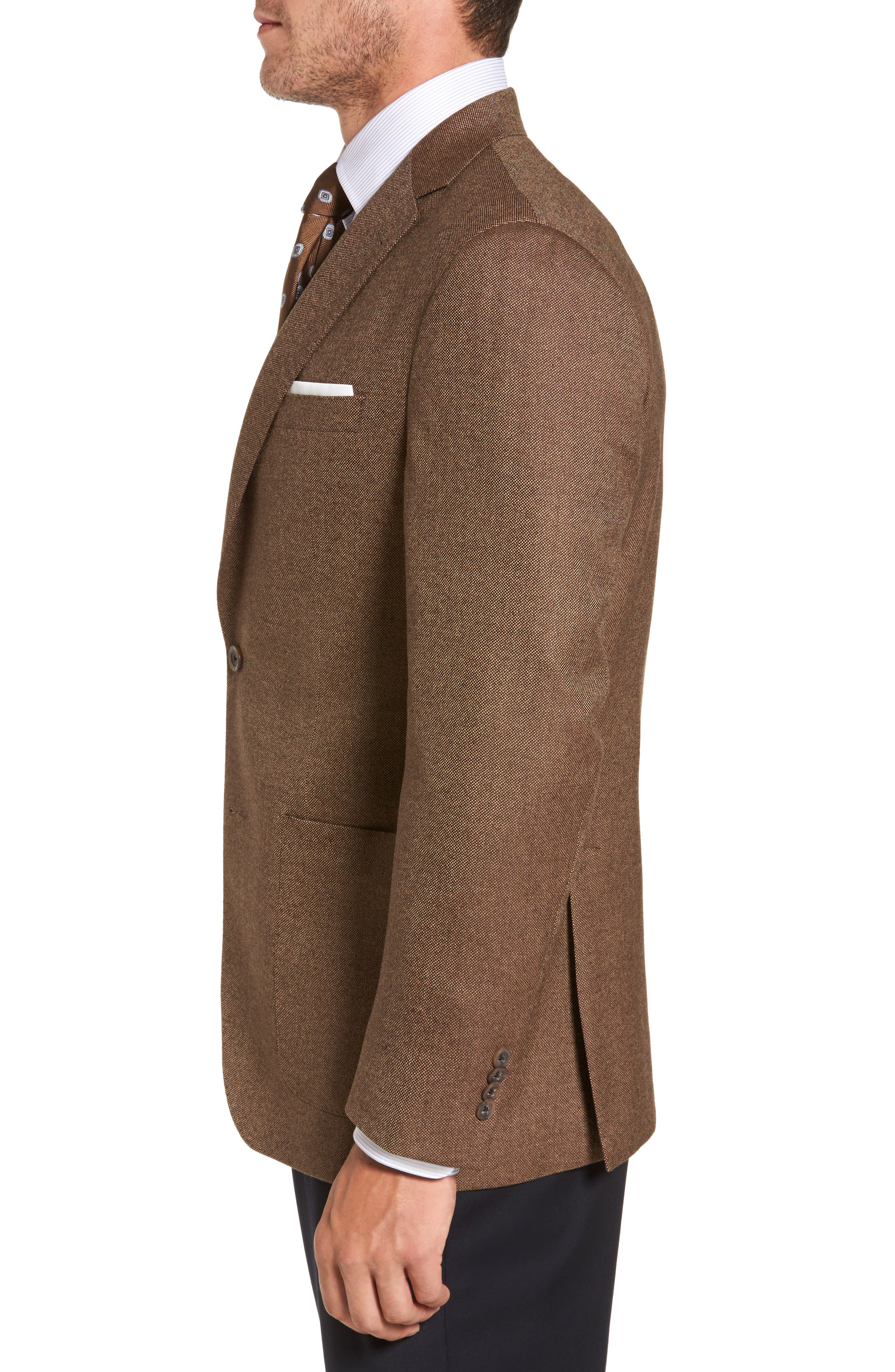 Aiden Classic Fit Wool Blazer,                             Alternate thumbnail 3, color,                             Light Brown