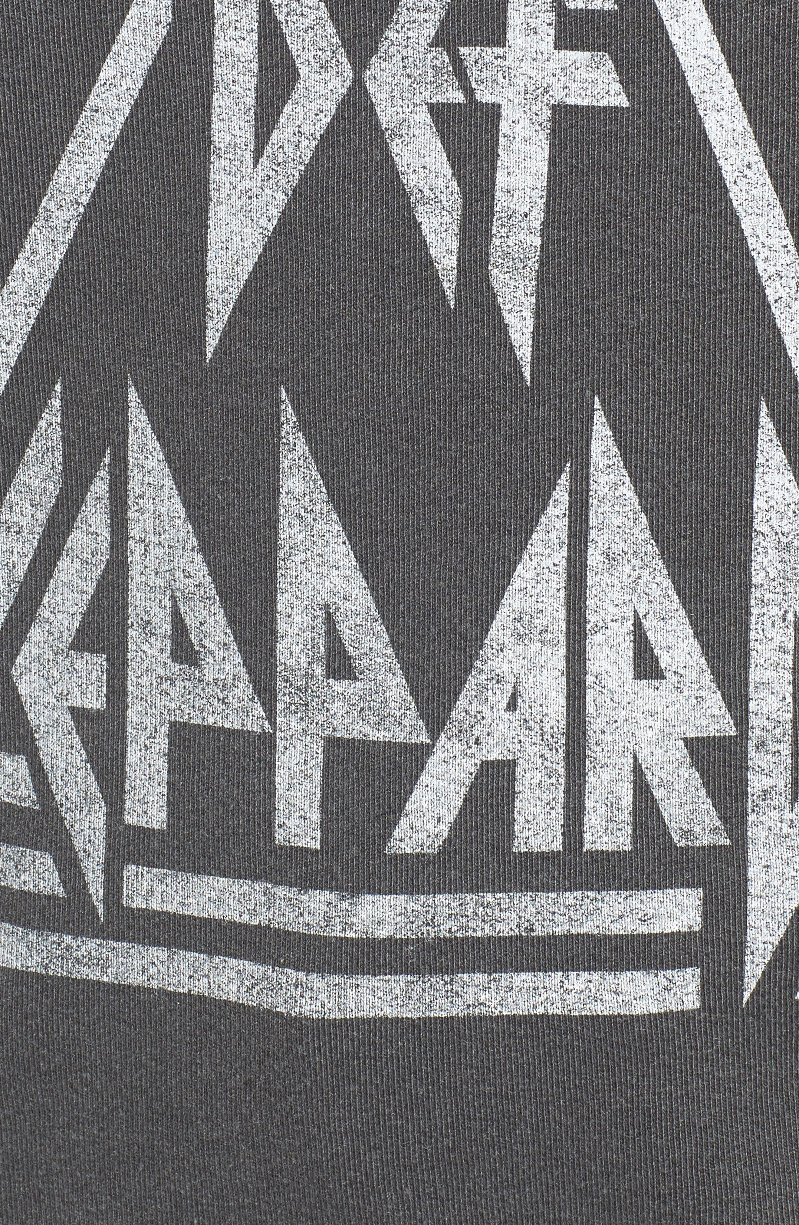 Def Leppard Sweatshirt,                             Alternate thumbnail 5, color,                             Faded Black