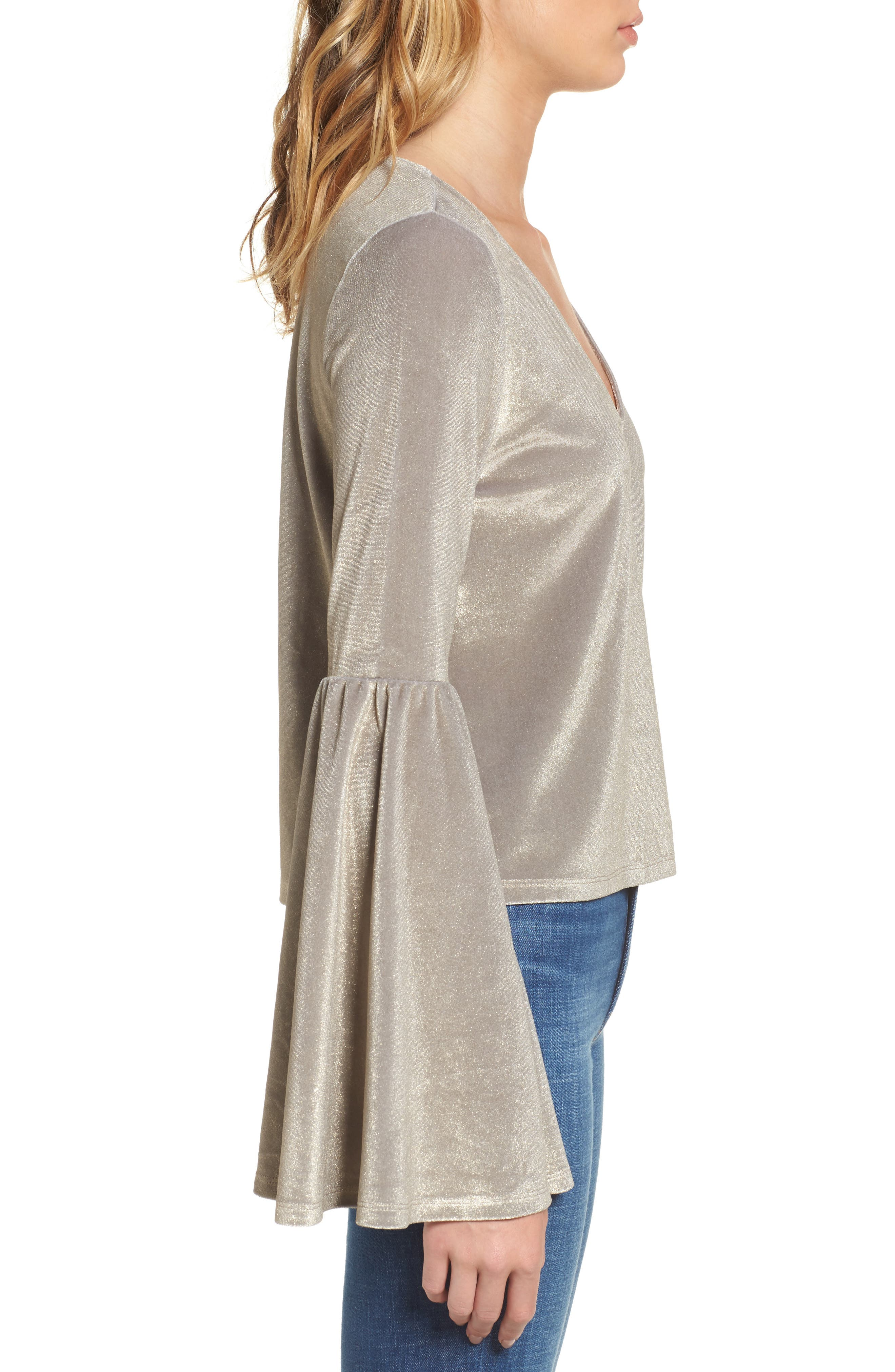 Alternate Image 3  - Leith Velour Bell Sleeve Top