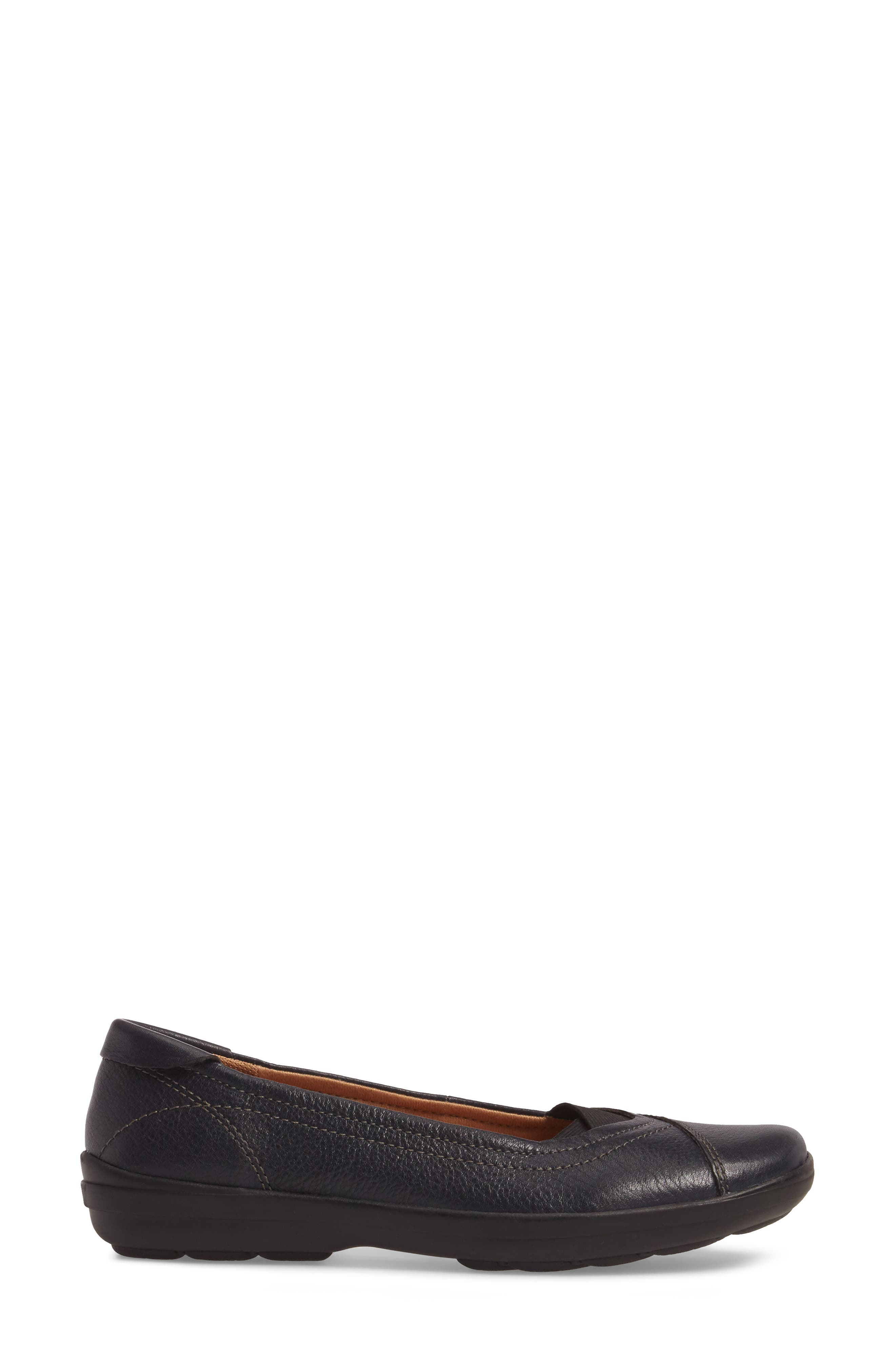Renee Flat,                             Alternate thumbnail 3, color,                             Navy Leather