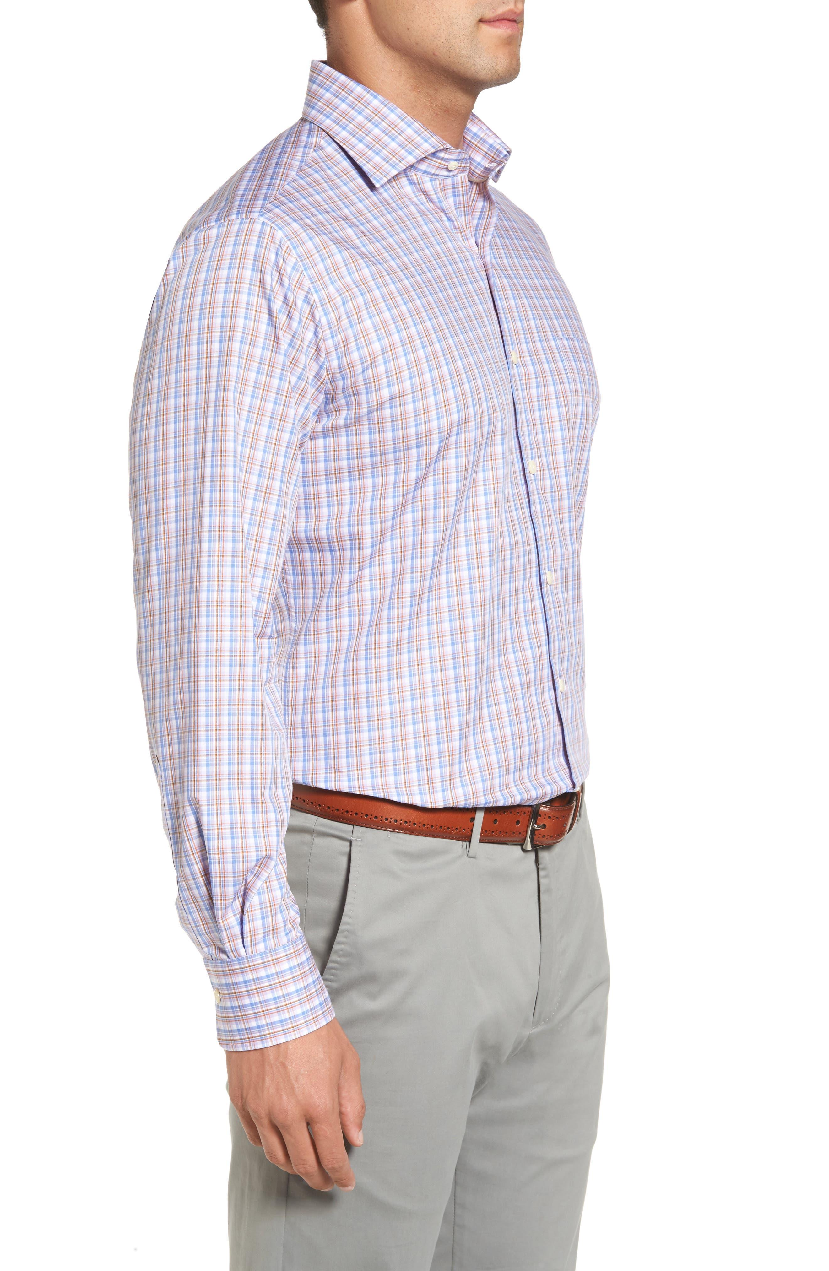 Alternate Image 3  - Peter Millar Alpine Regular Fit Plaid Sport Shirt