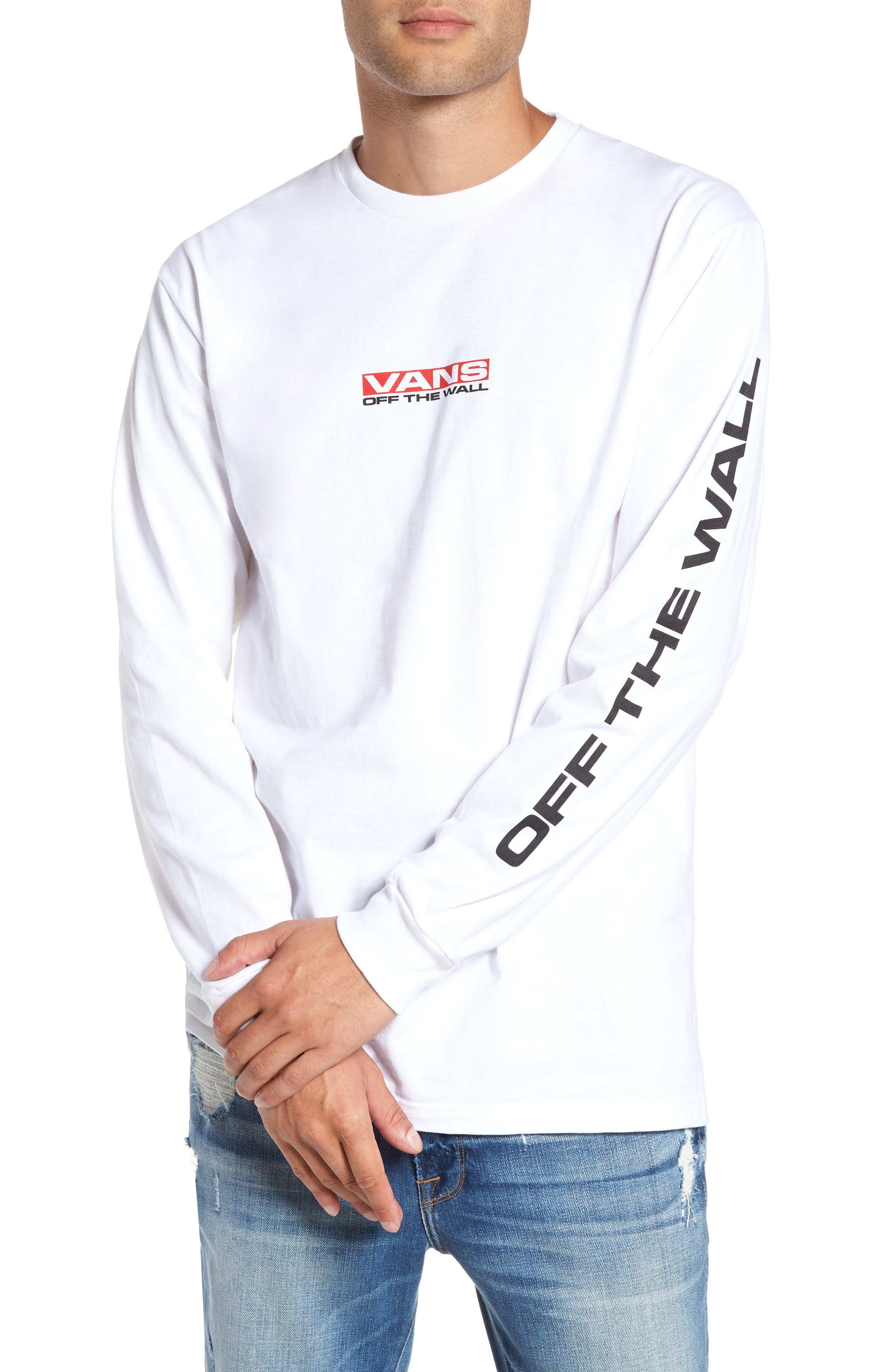 Alternate Image 1 Selected - Vans Side Waze Graphic Long Sleeve T-Shirt